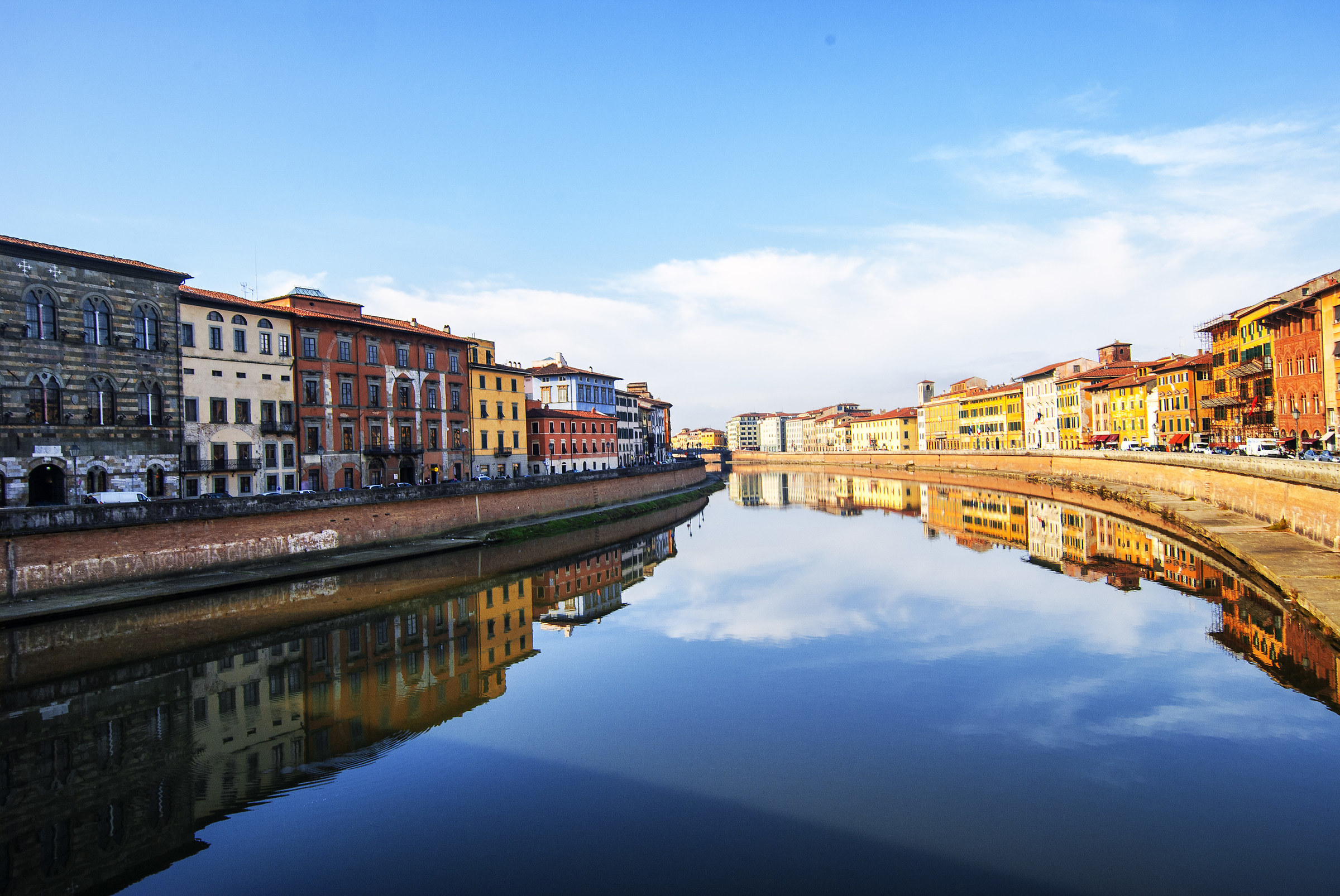 Reflections on the Lungarni in Pisa...