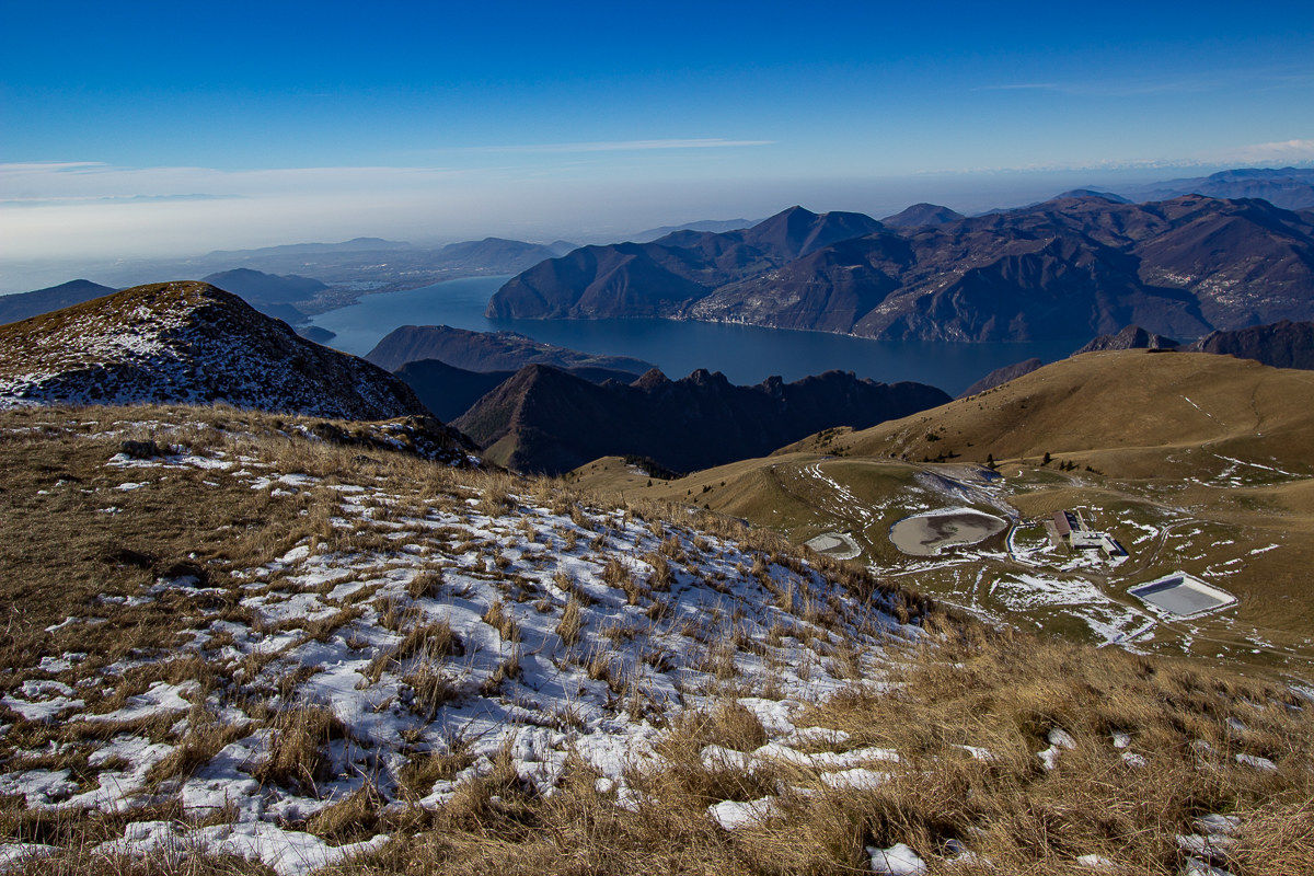 Lake Iseo seen from above!...