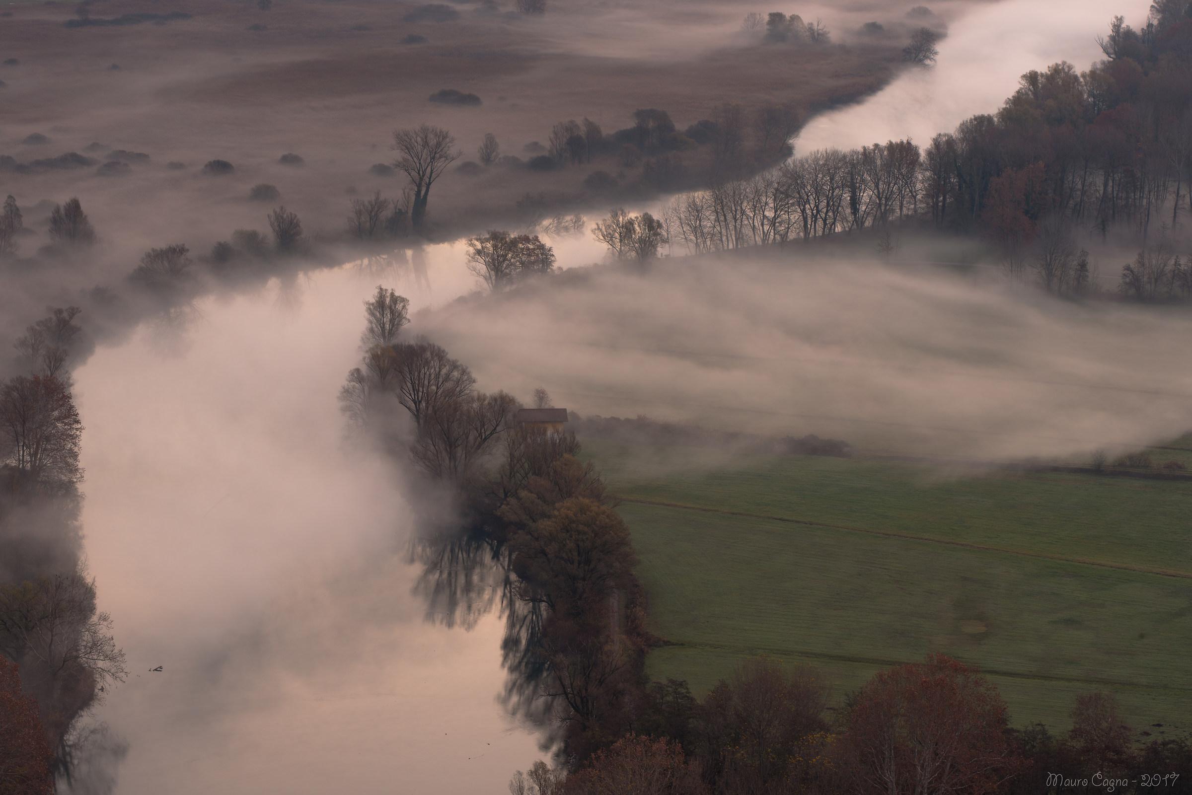 Airuno, nebbia mattutina...