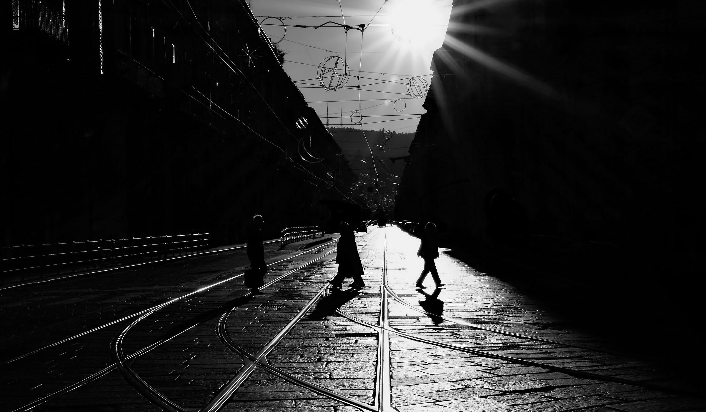 the four pedestrians...