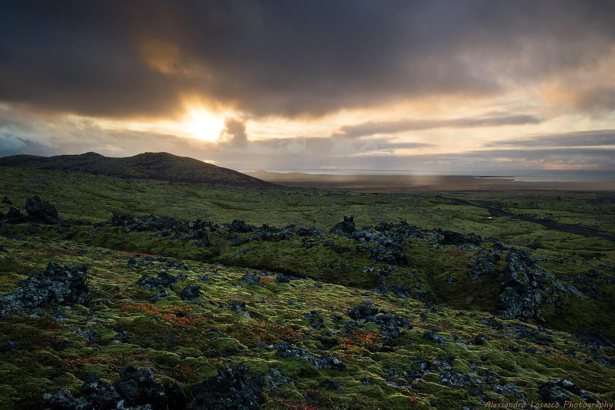 Volcanic sunset...