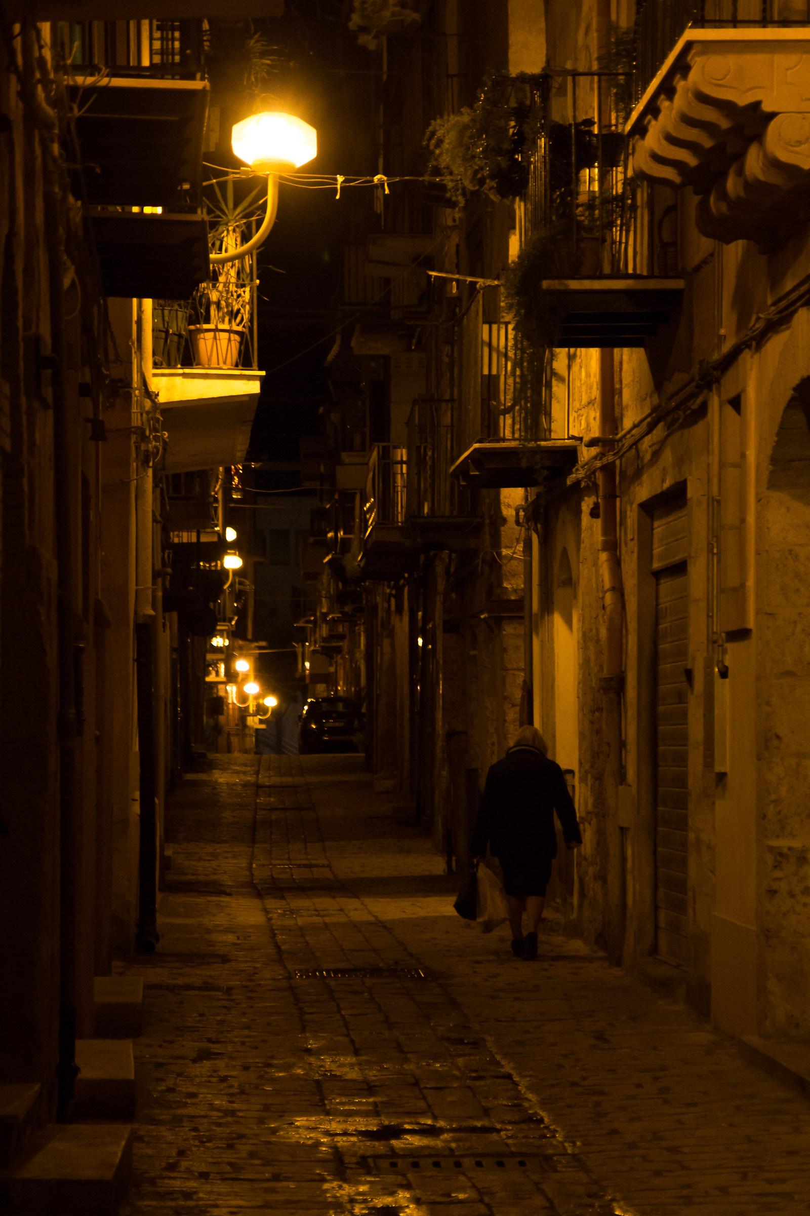 Lonely walk...