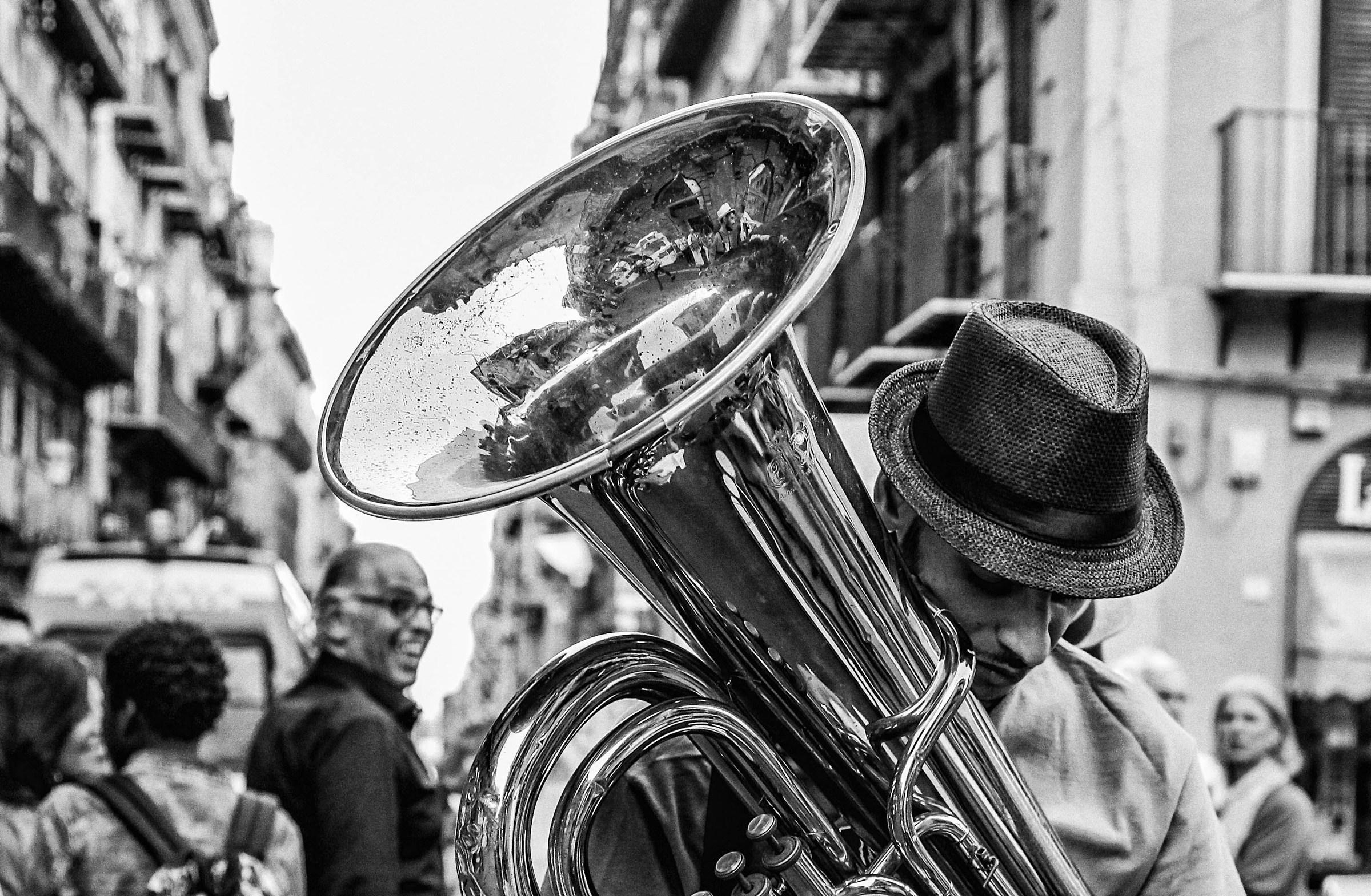 The Tuba player...