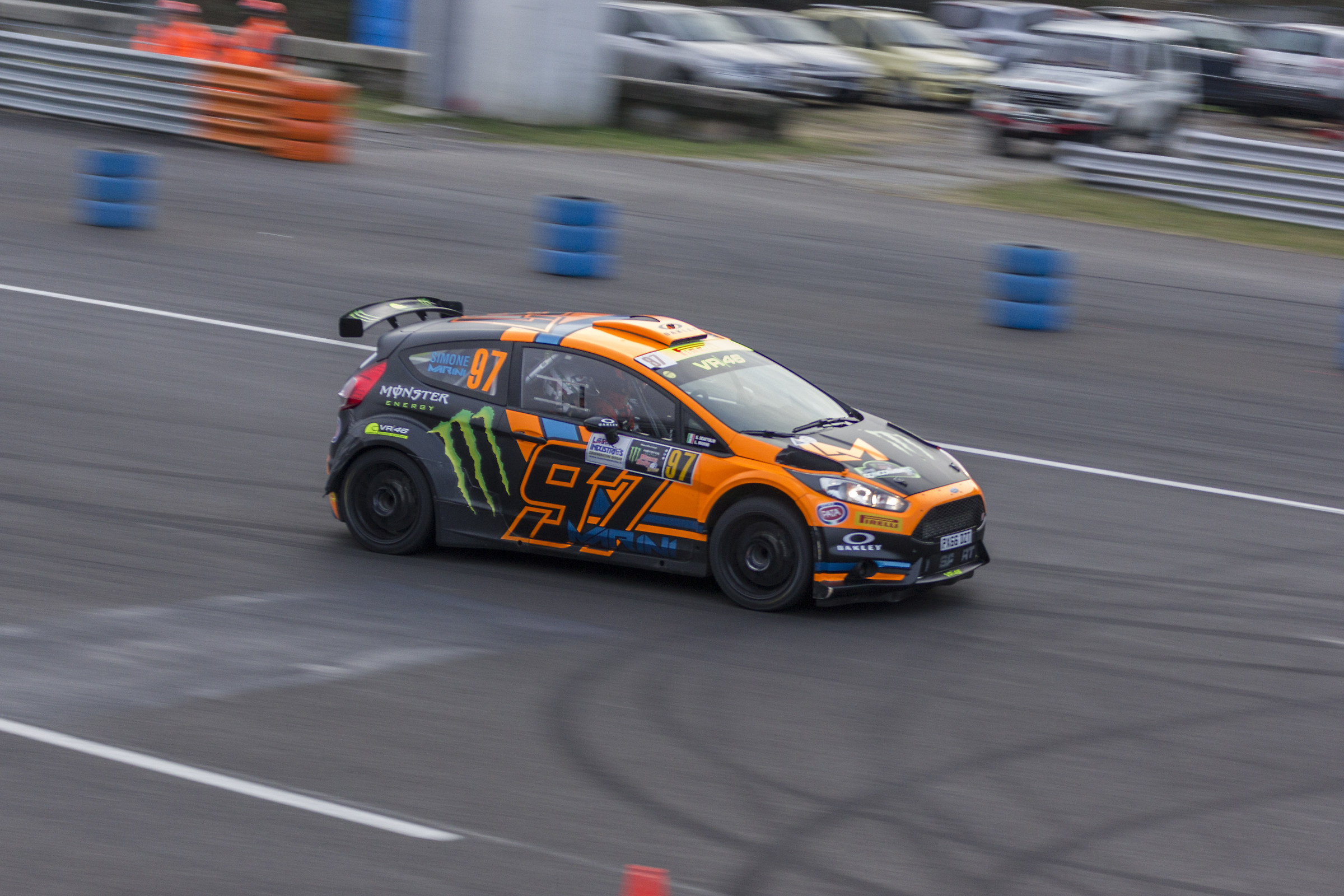 Luca Marini at the Monza rally show...