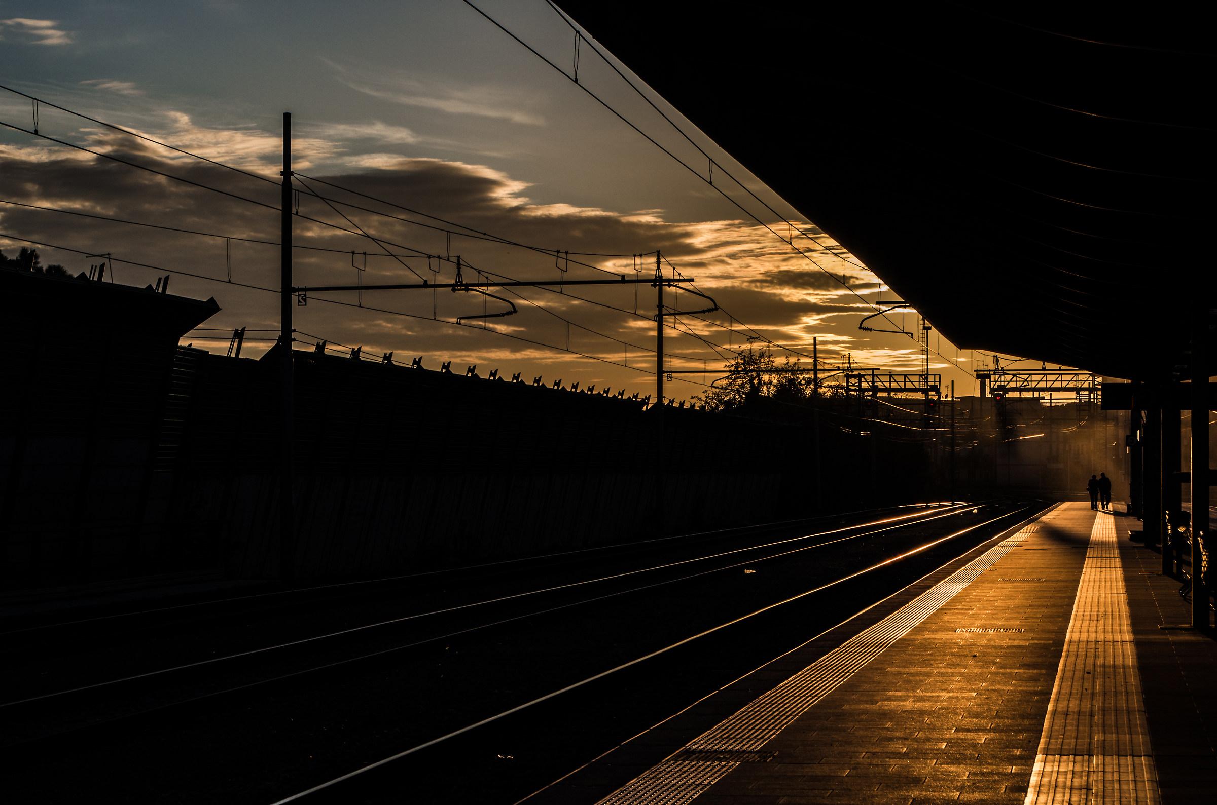 Aspettando il treno...