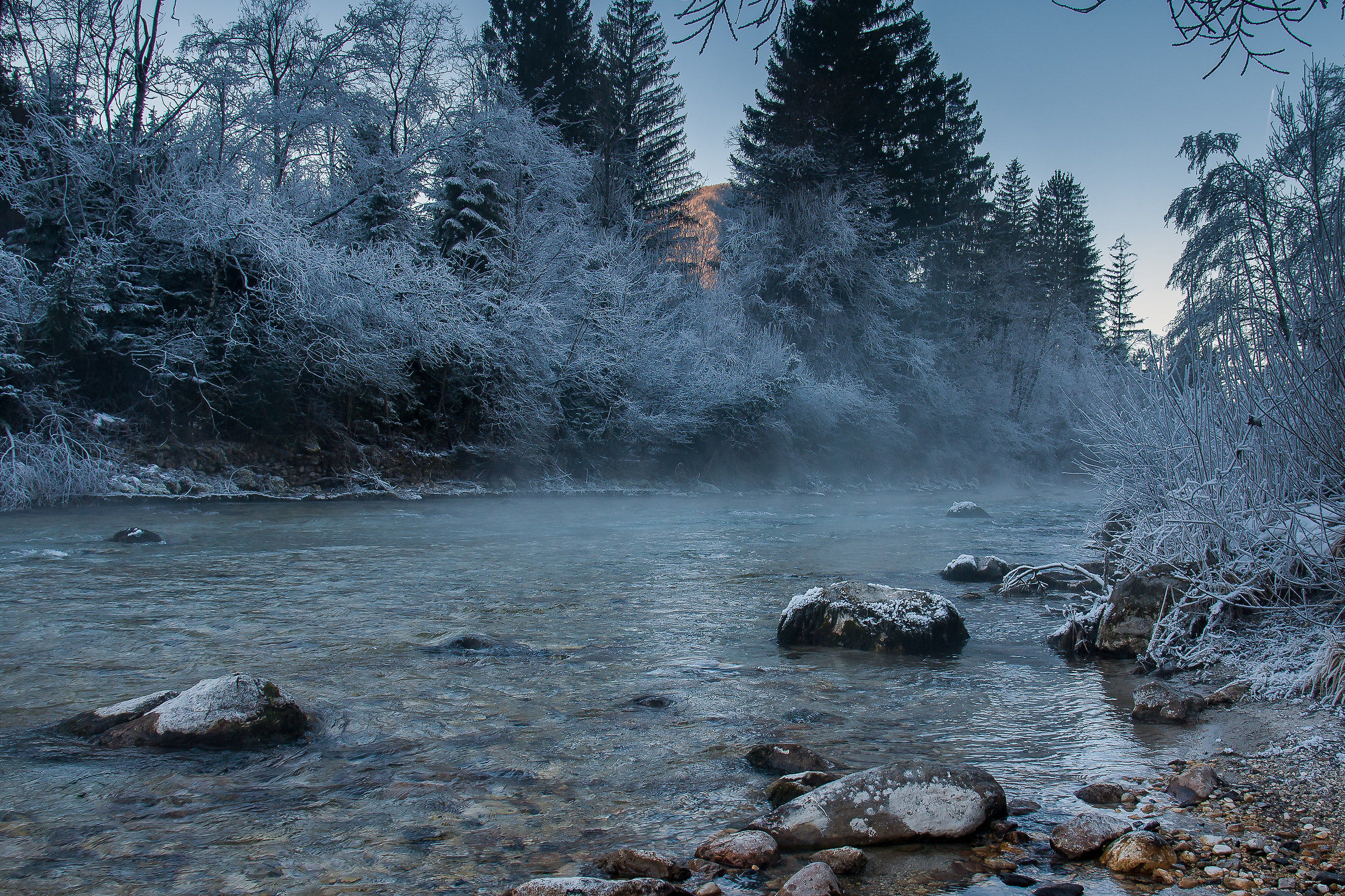 Cold river...