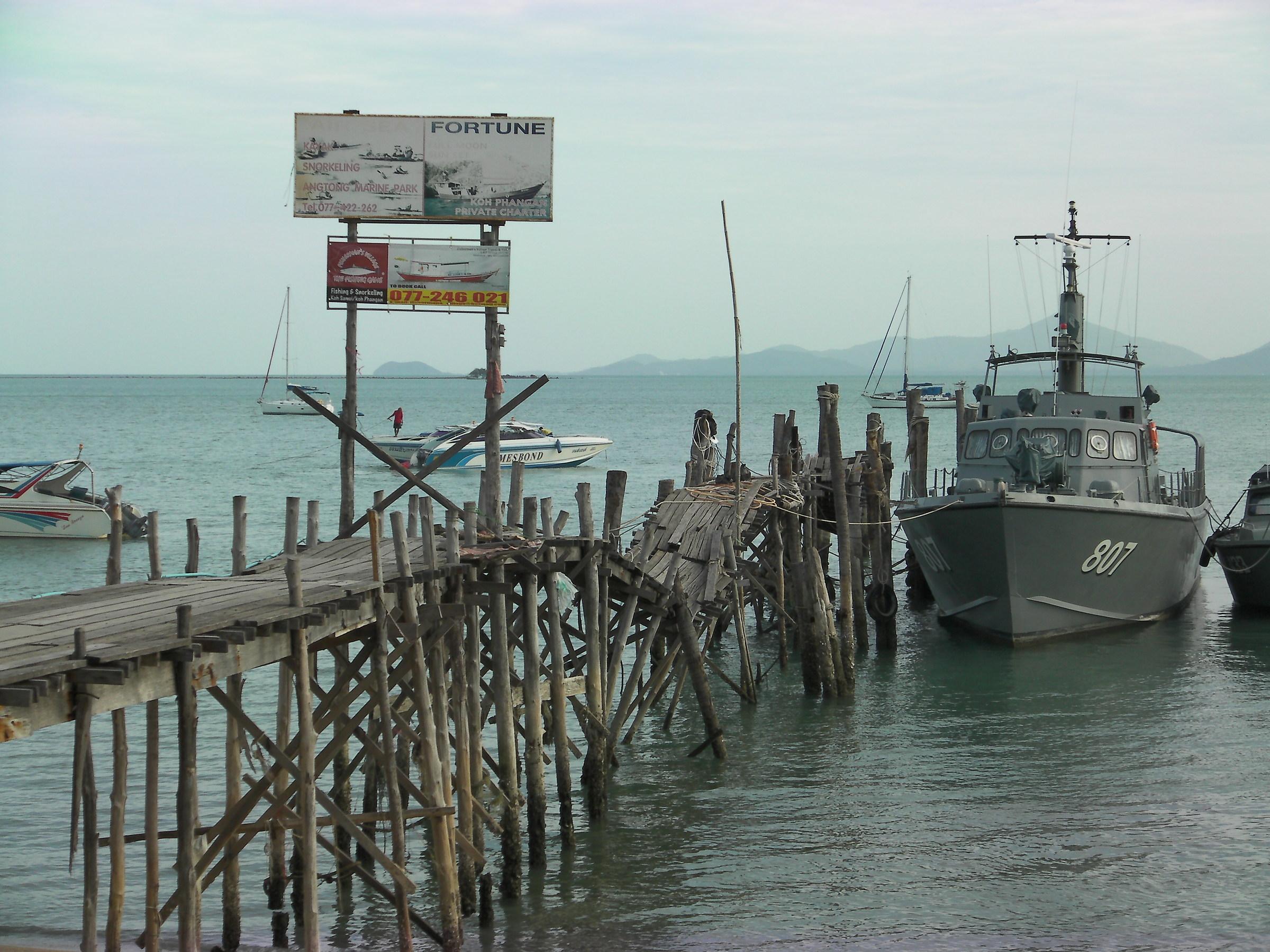 Thailandia - Koh Samui - Fisherman's village pier...