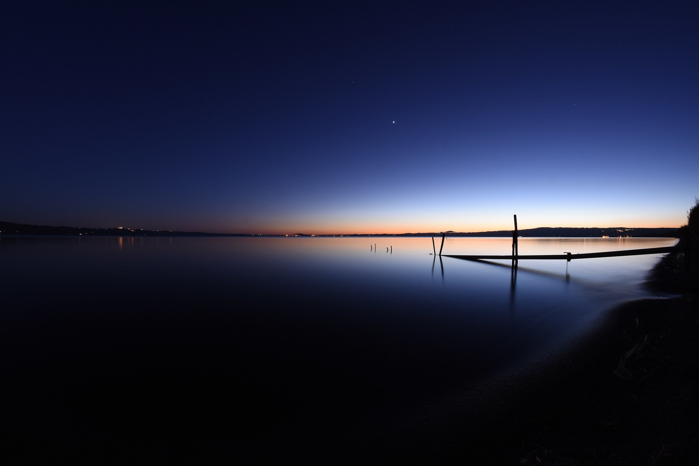 Sunset on Lake Bolsena (color)...