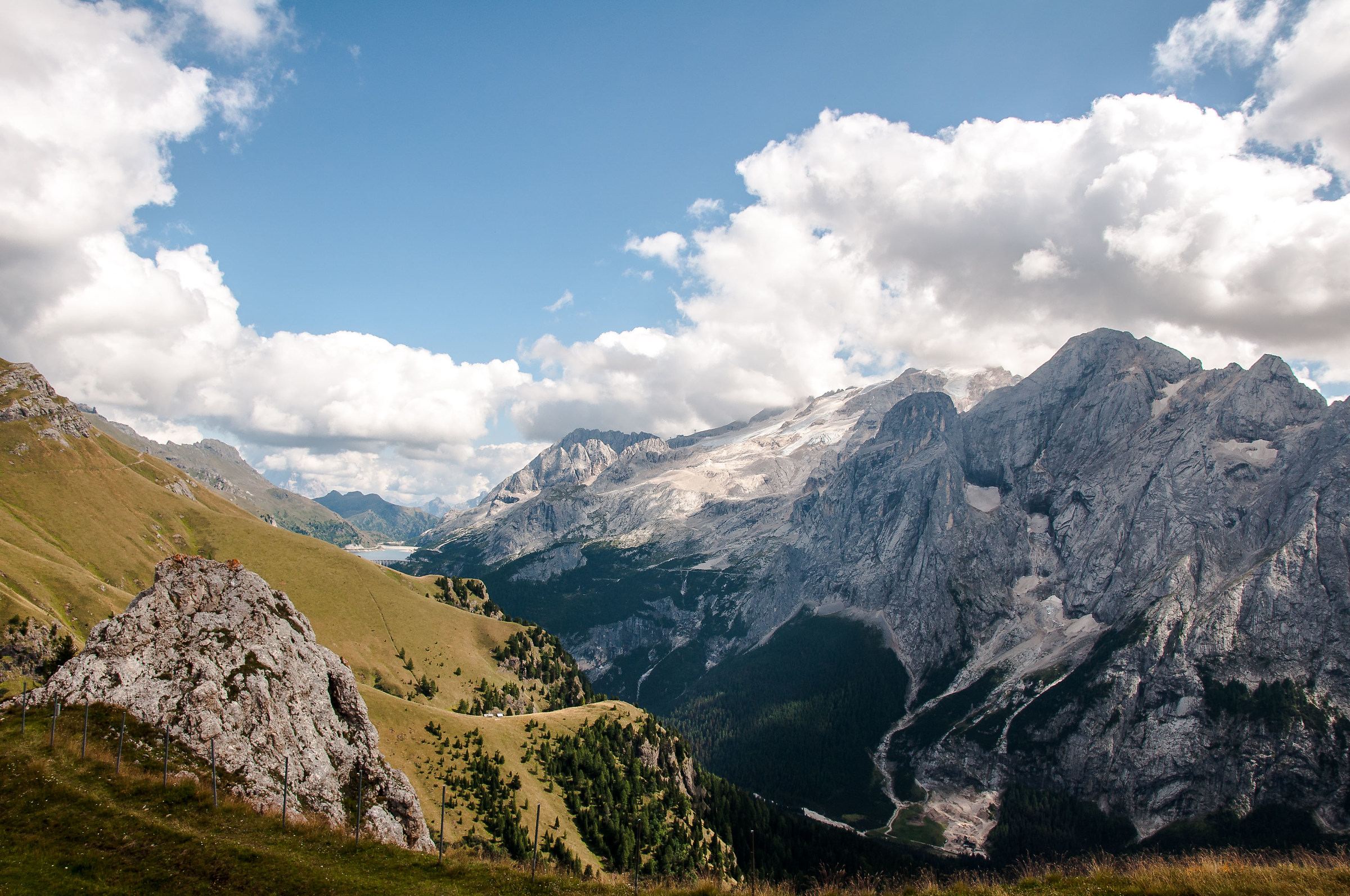 Marmolada and Fedaia, from the Belvedere...