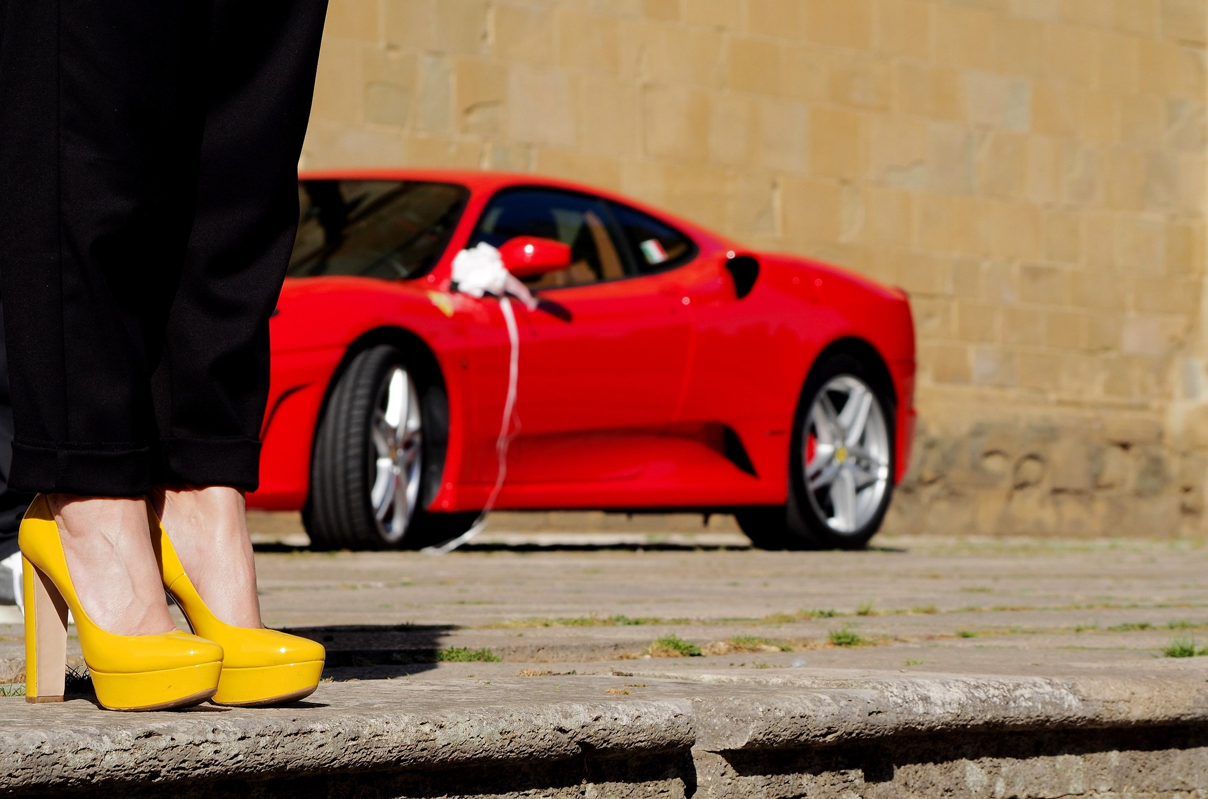 Red Head & Yellow Shoes...