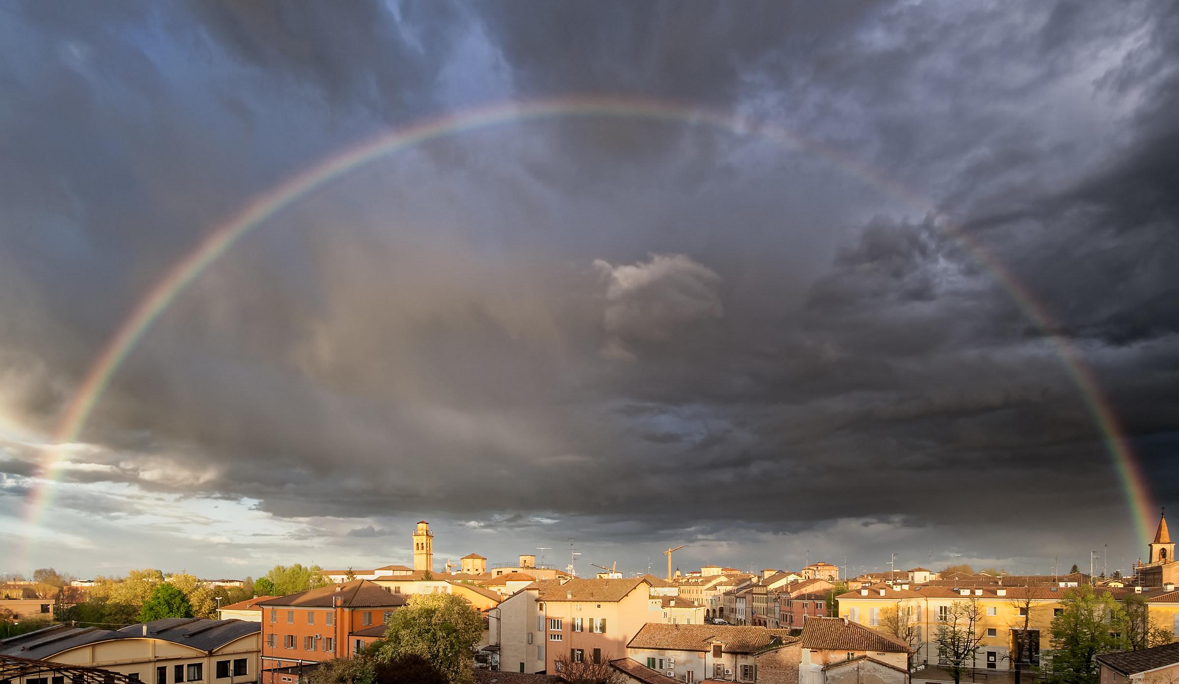 The sky above Correggio...
