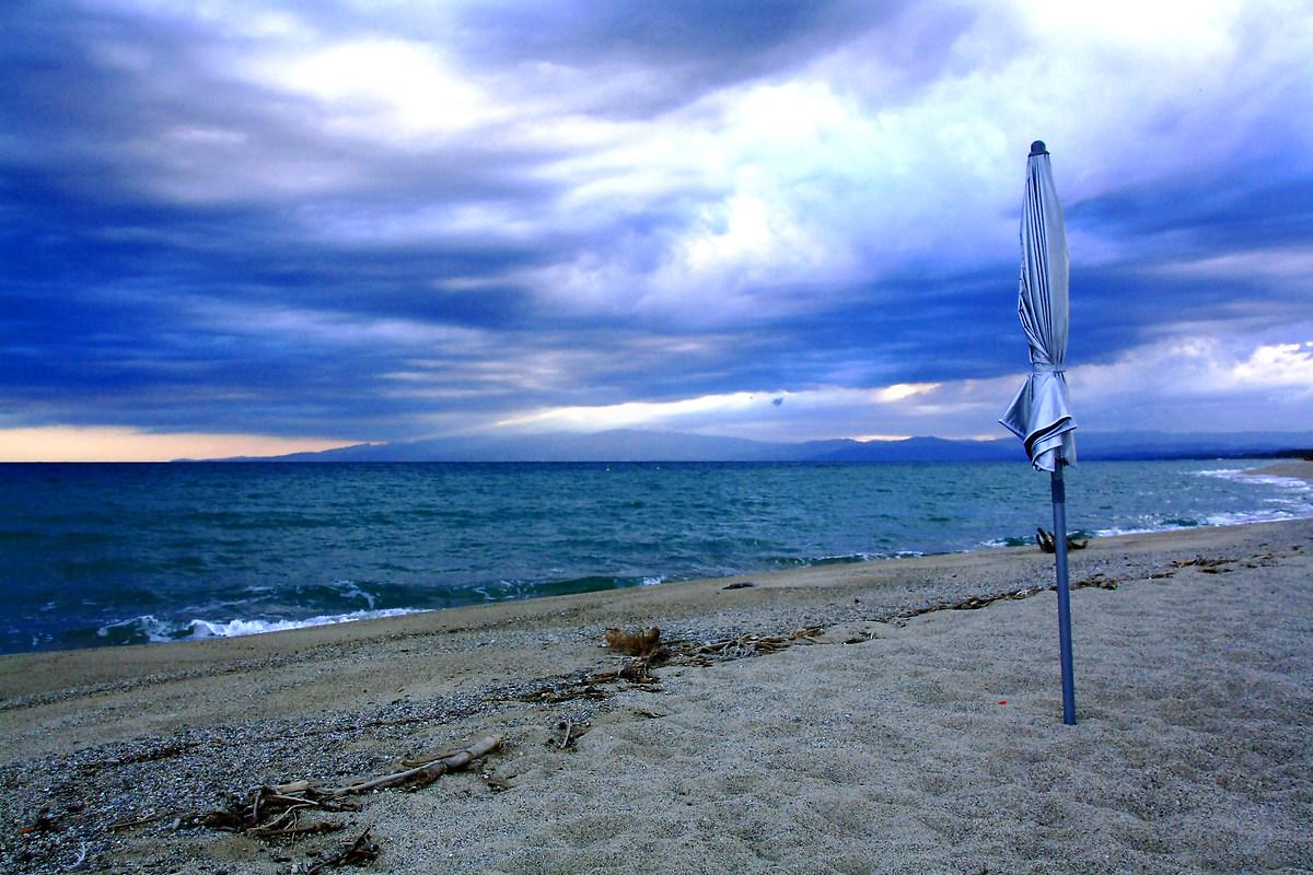 Winter sea Calabria...