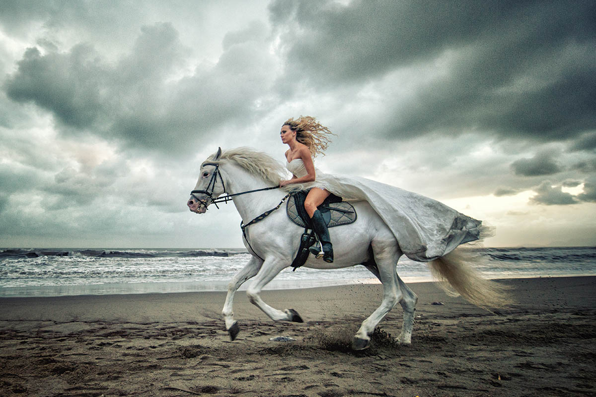 bride and horse...