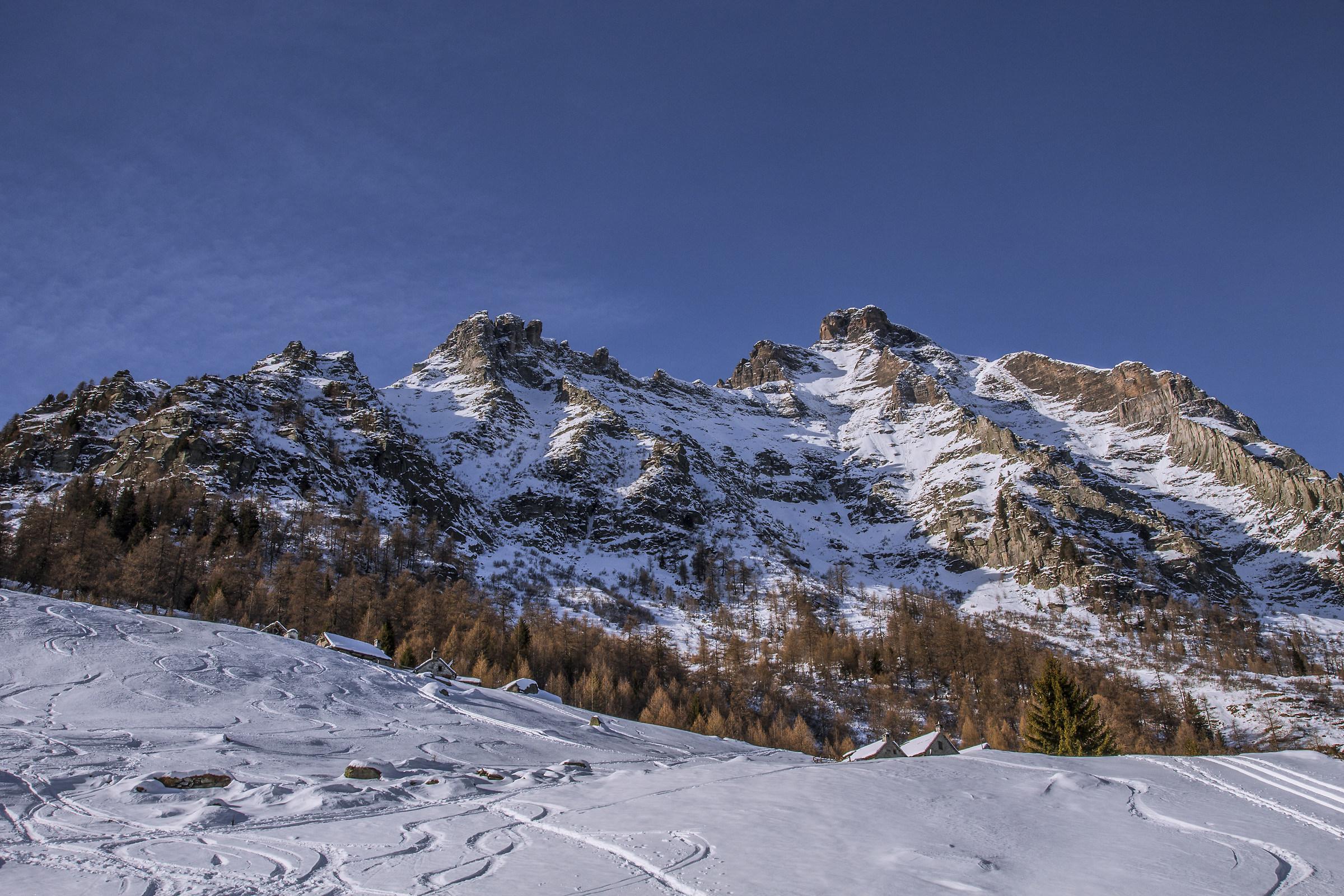 La maestosità del monte Cistella...