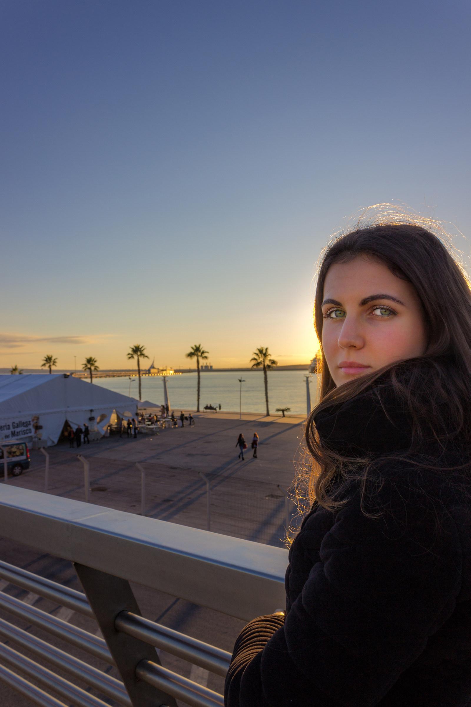 Emerald eyes at sunset...