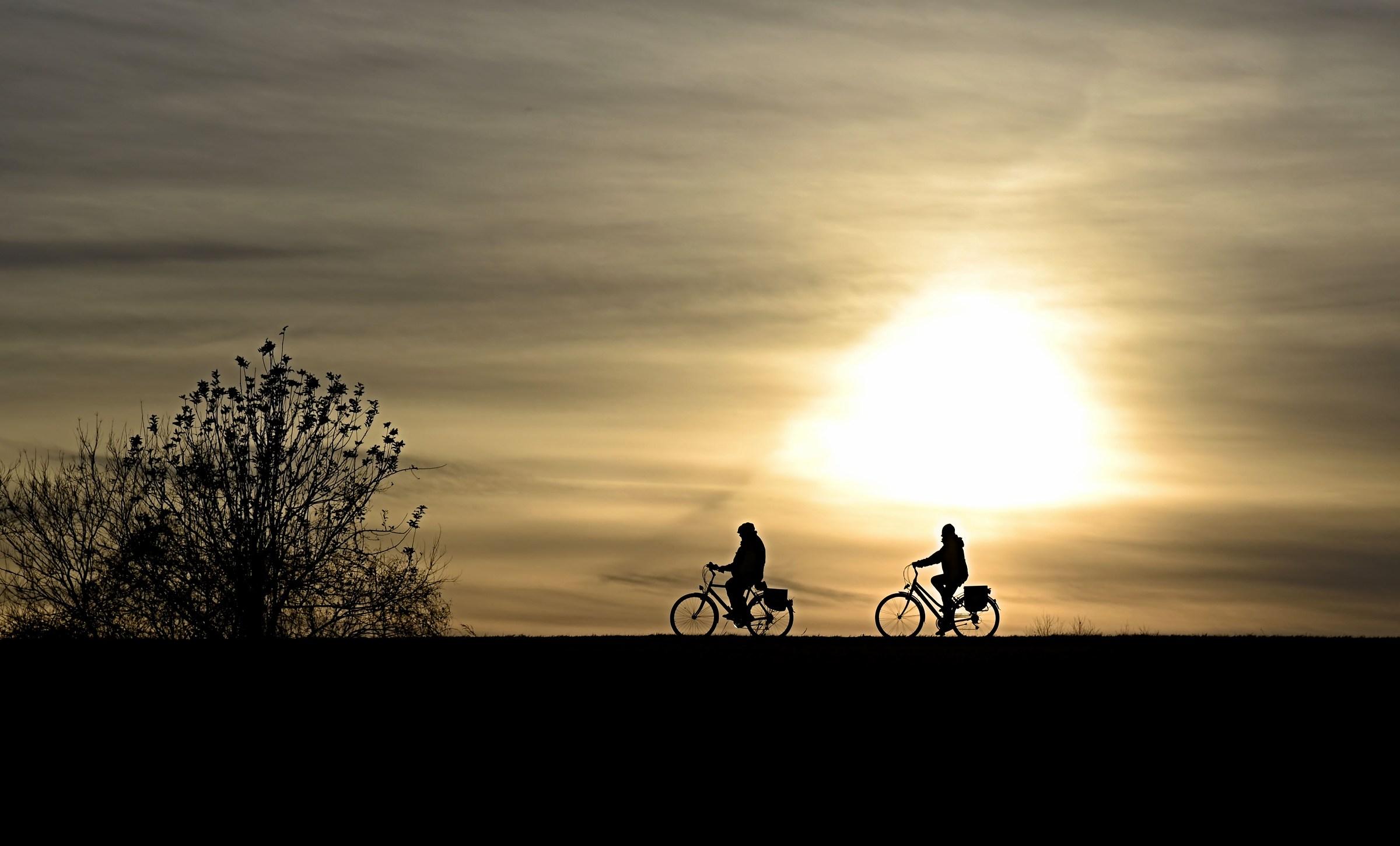 Sunset by bike...