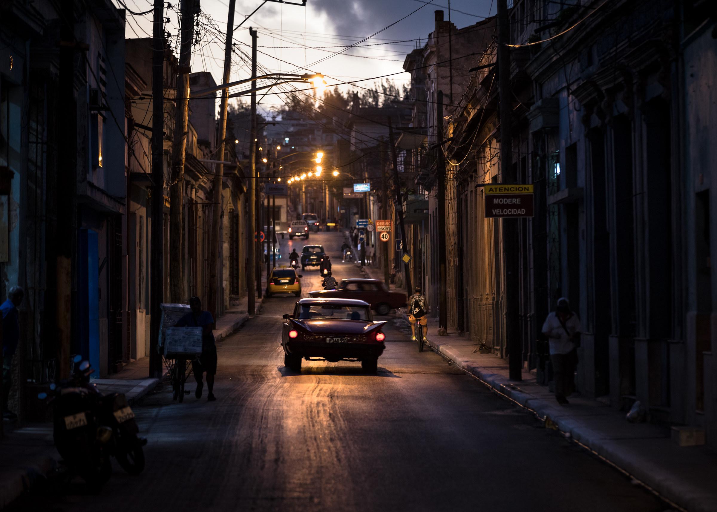 Nights streets of Matanzas...