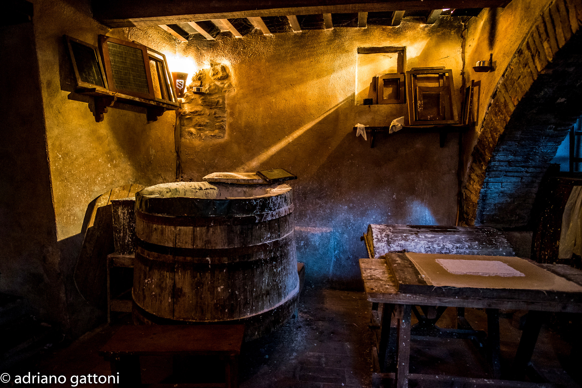 Drinks ancient medieval paper mill...