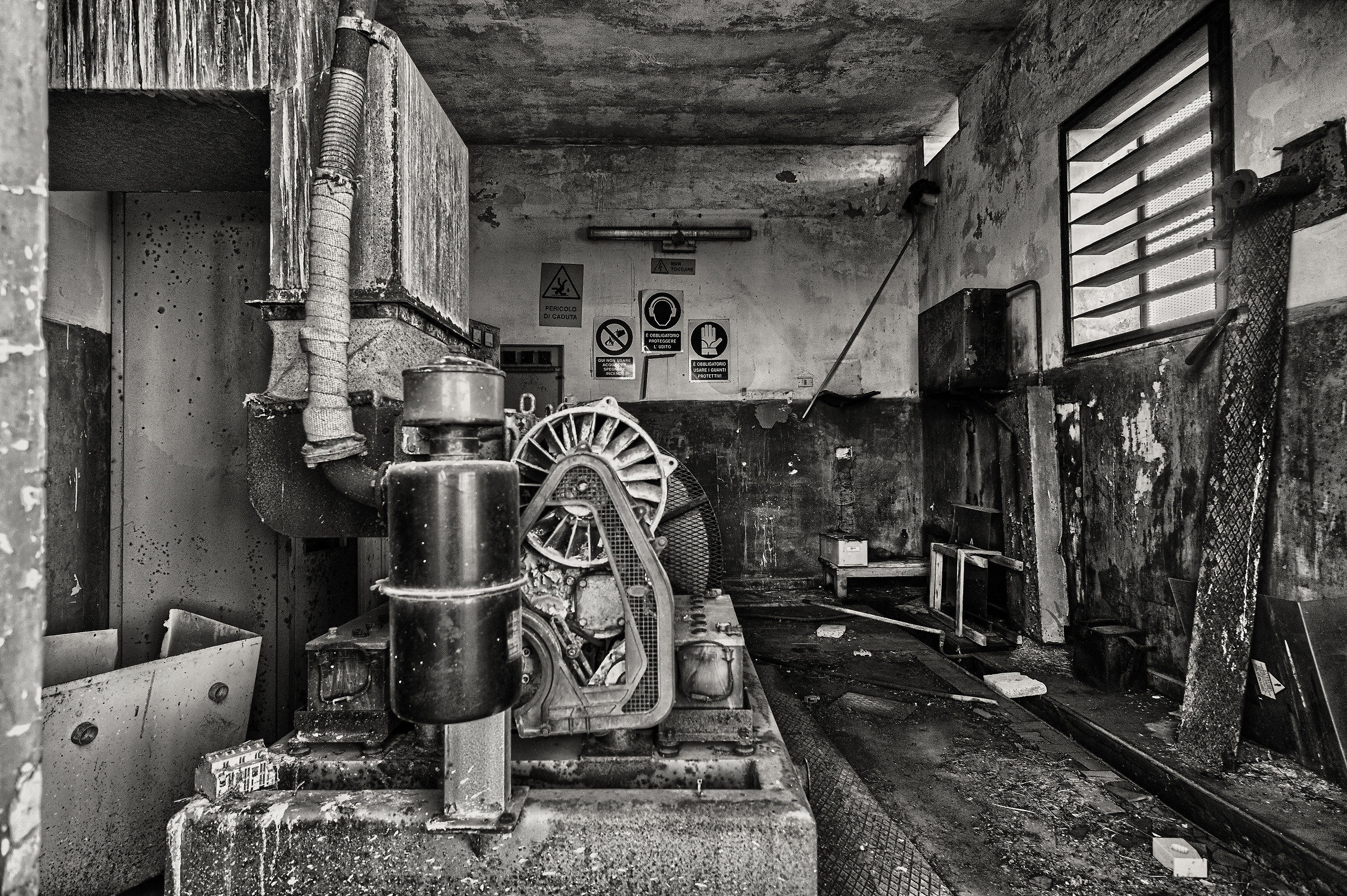 Boiler room...