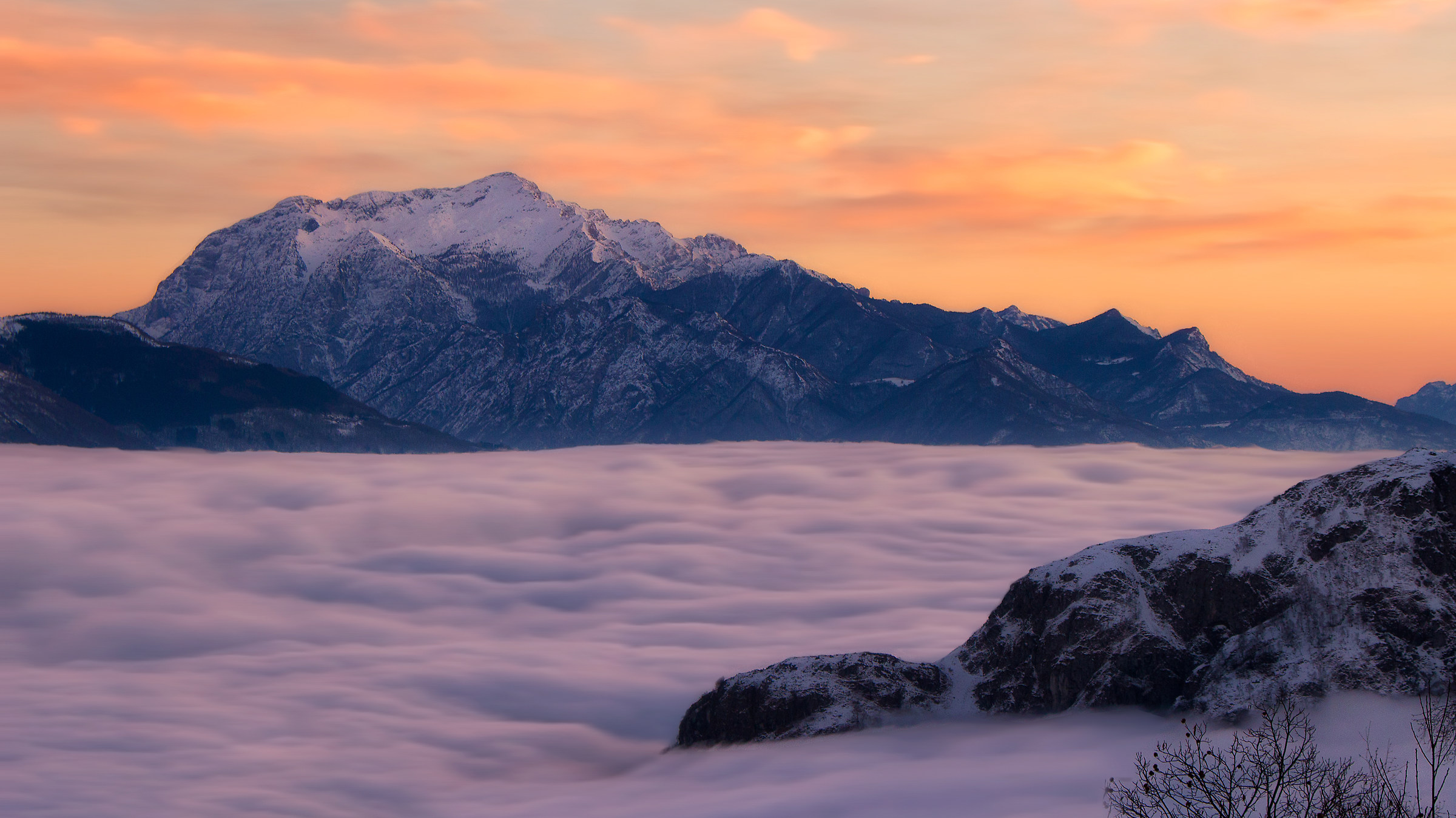 Above the clouds...
