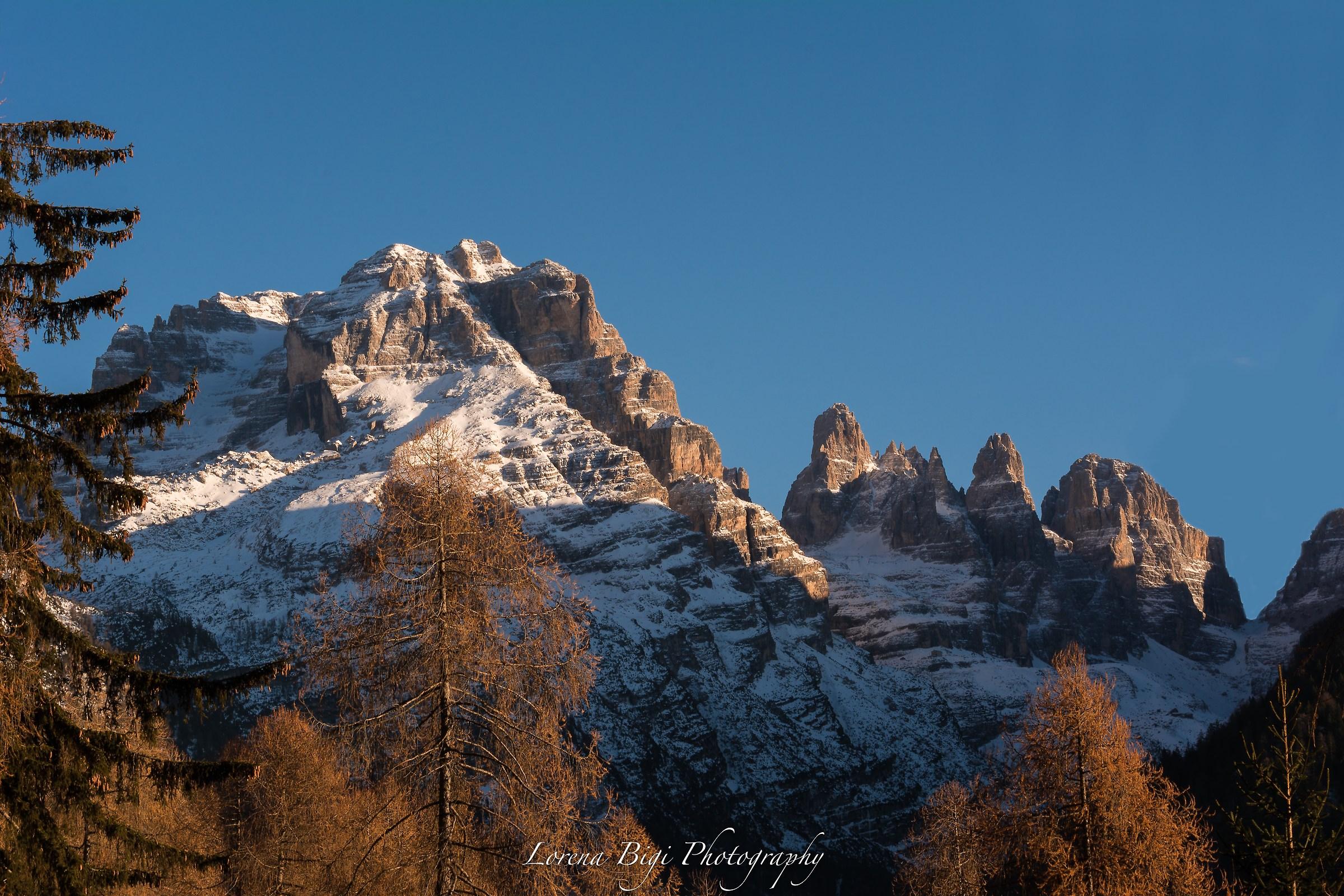 Tramonto dulle Dolomiti del Brenta...
