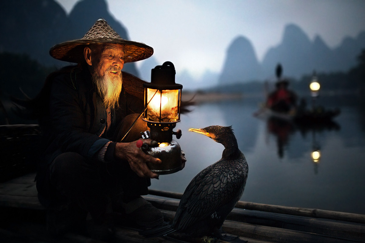 fish at dawn .. China...