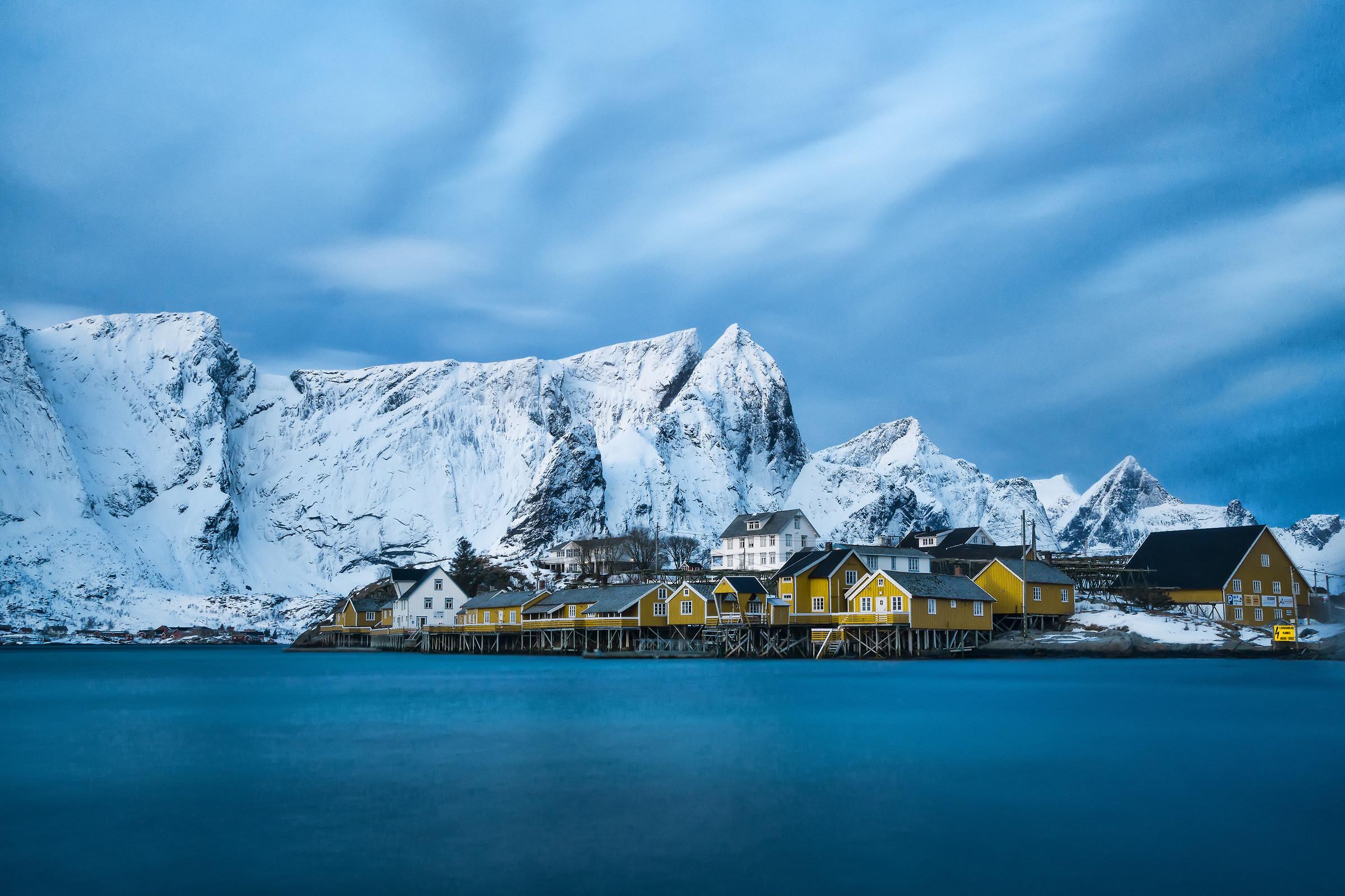 Casette gialle Isole Lofoten Norge...