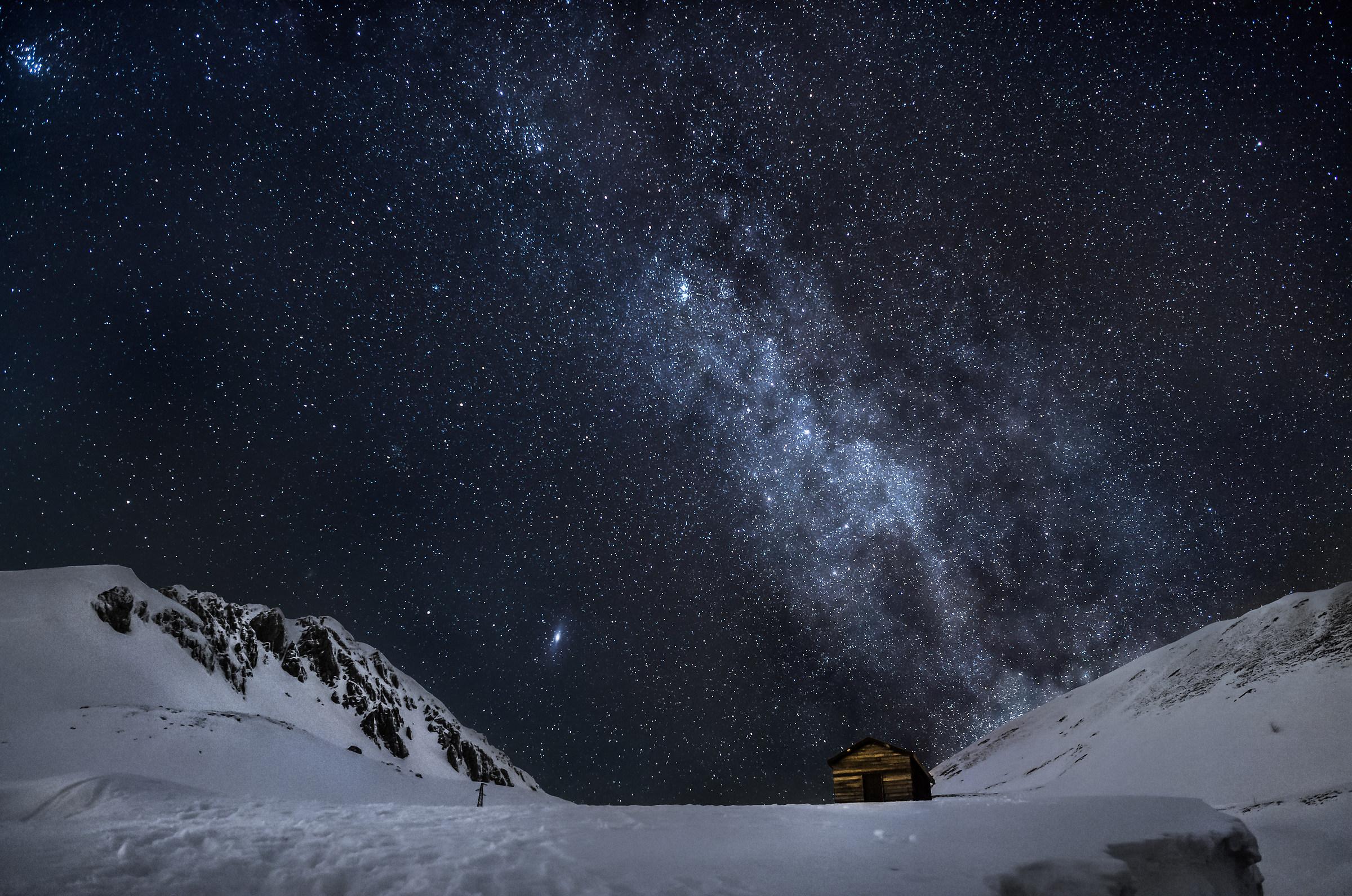Terminillo one winter evening...