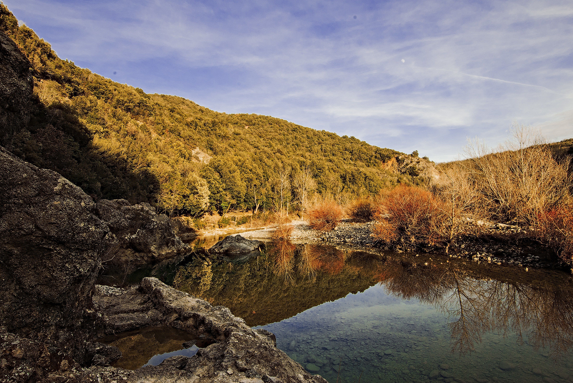 Reflections on the Cecina River...