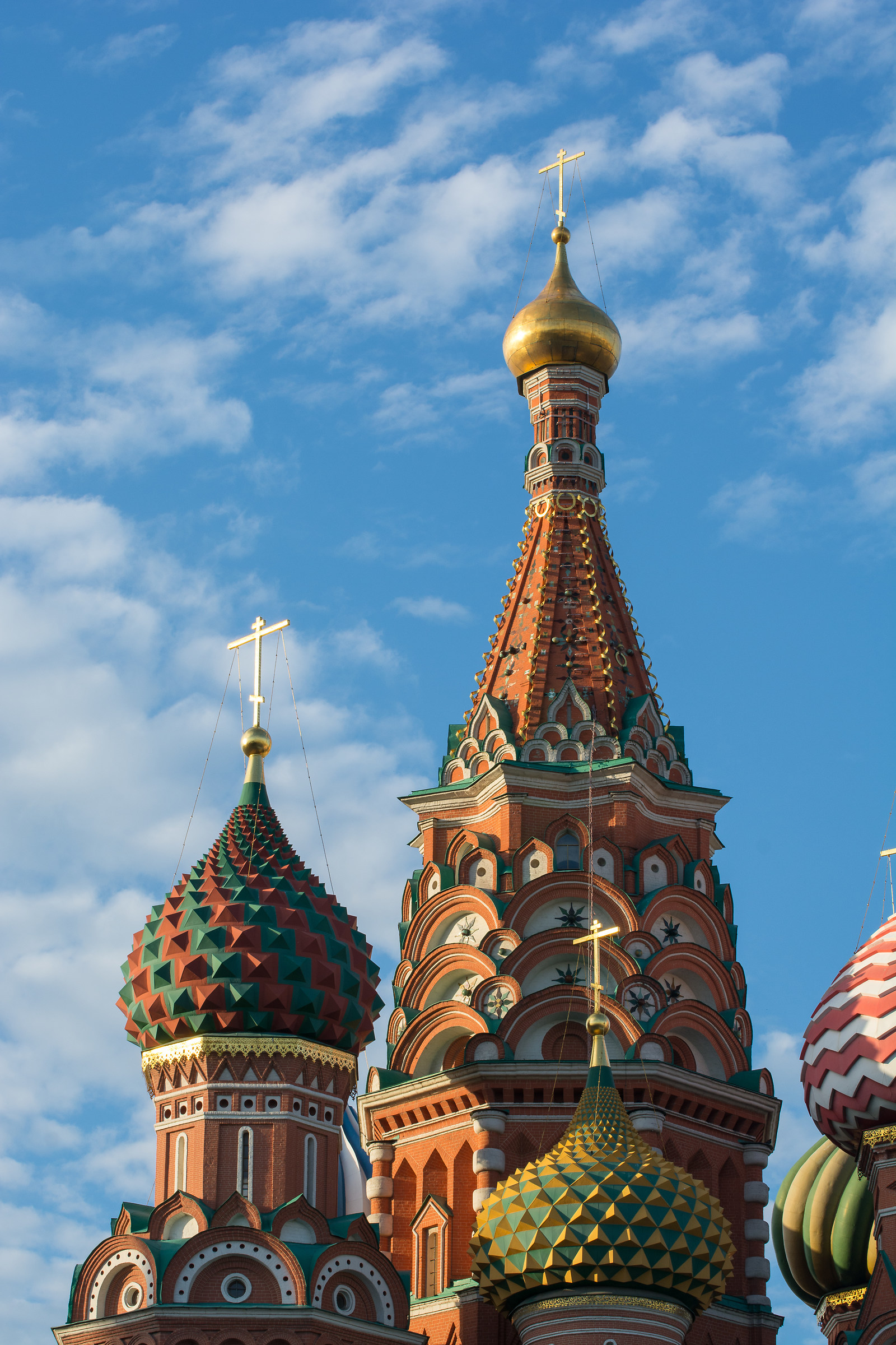 Afternoon sun on Saint Basil's Cathedral...
