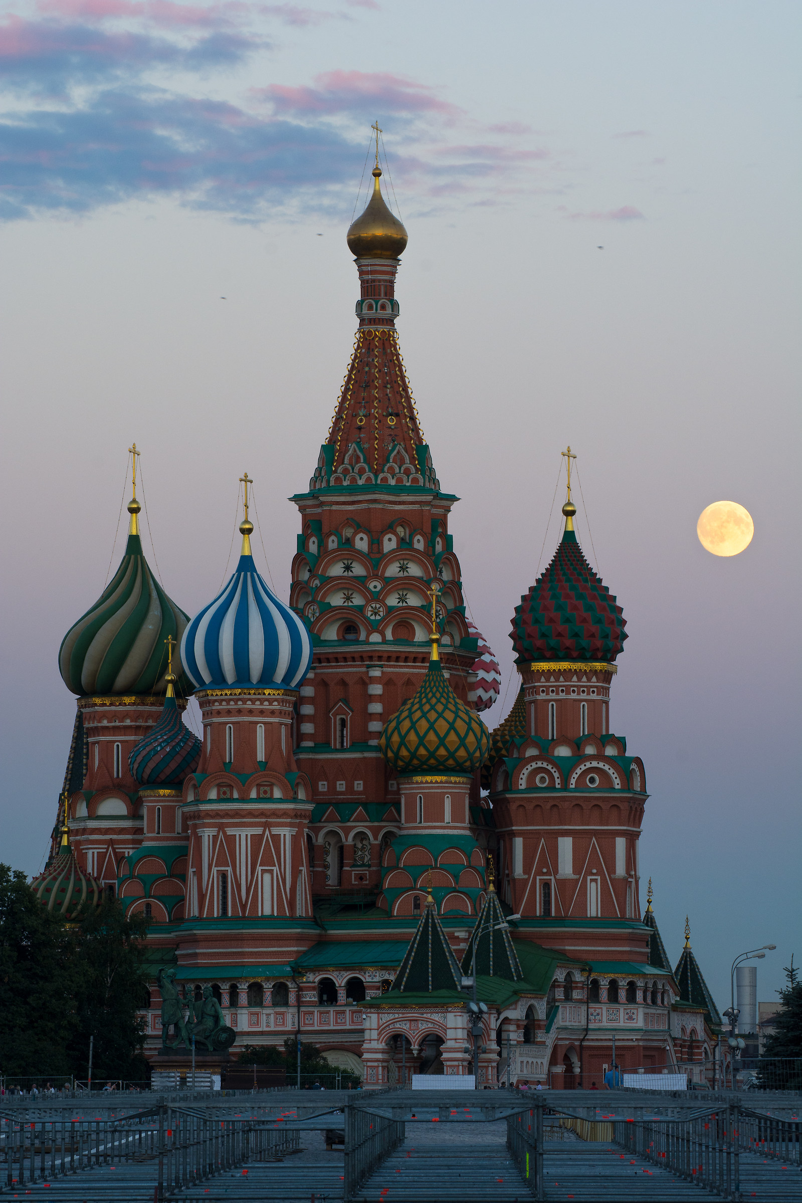 Saint Basil's Cathedral blessed by full moon...