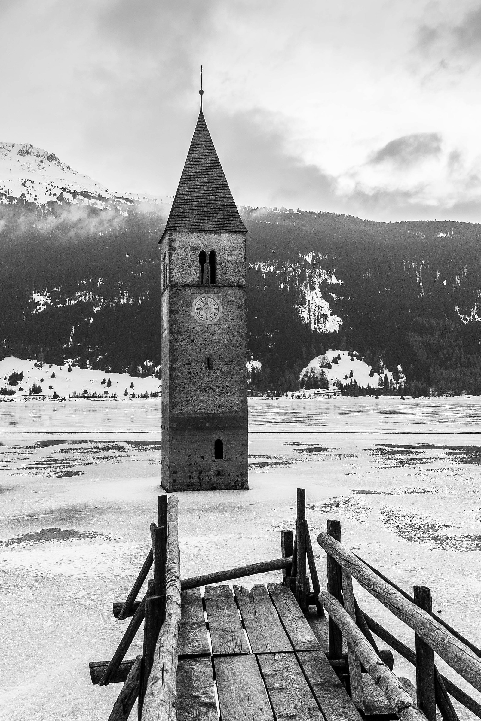 Lake Resia and the submerged city...