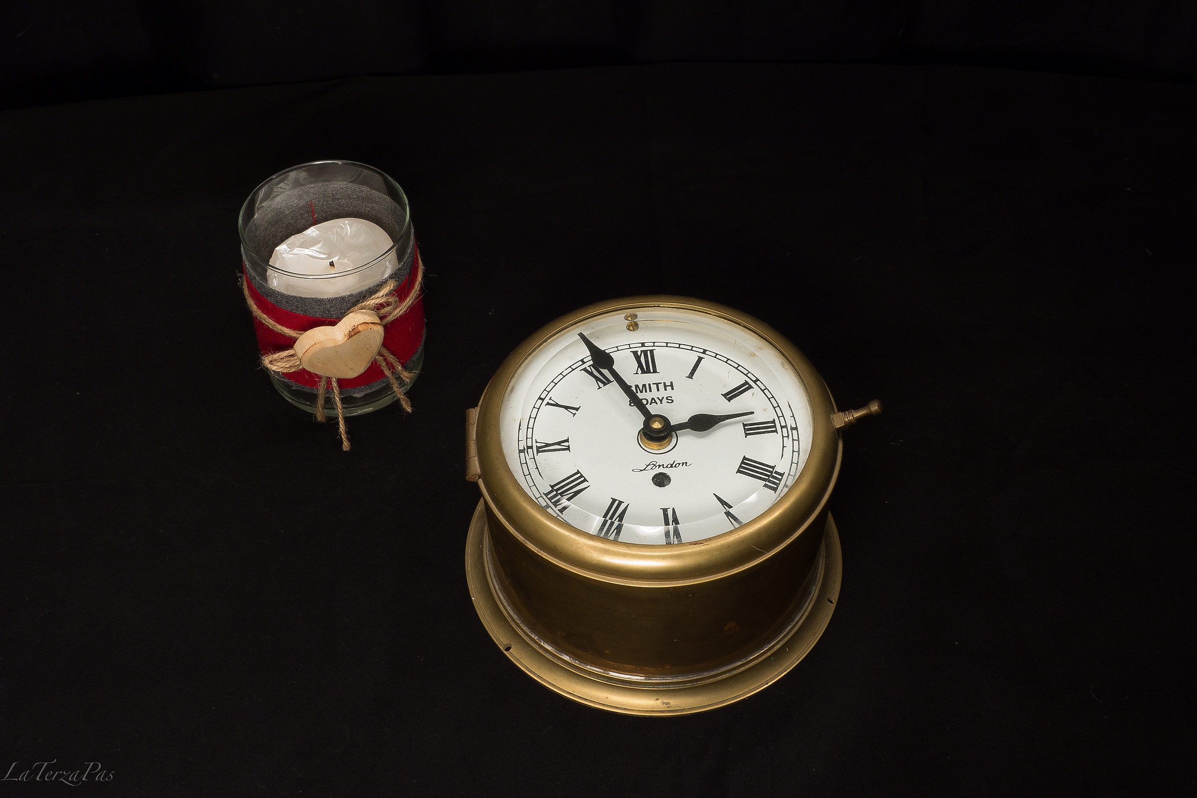Clock and candle...