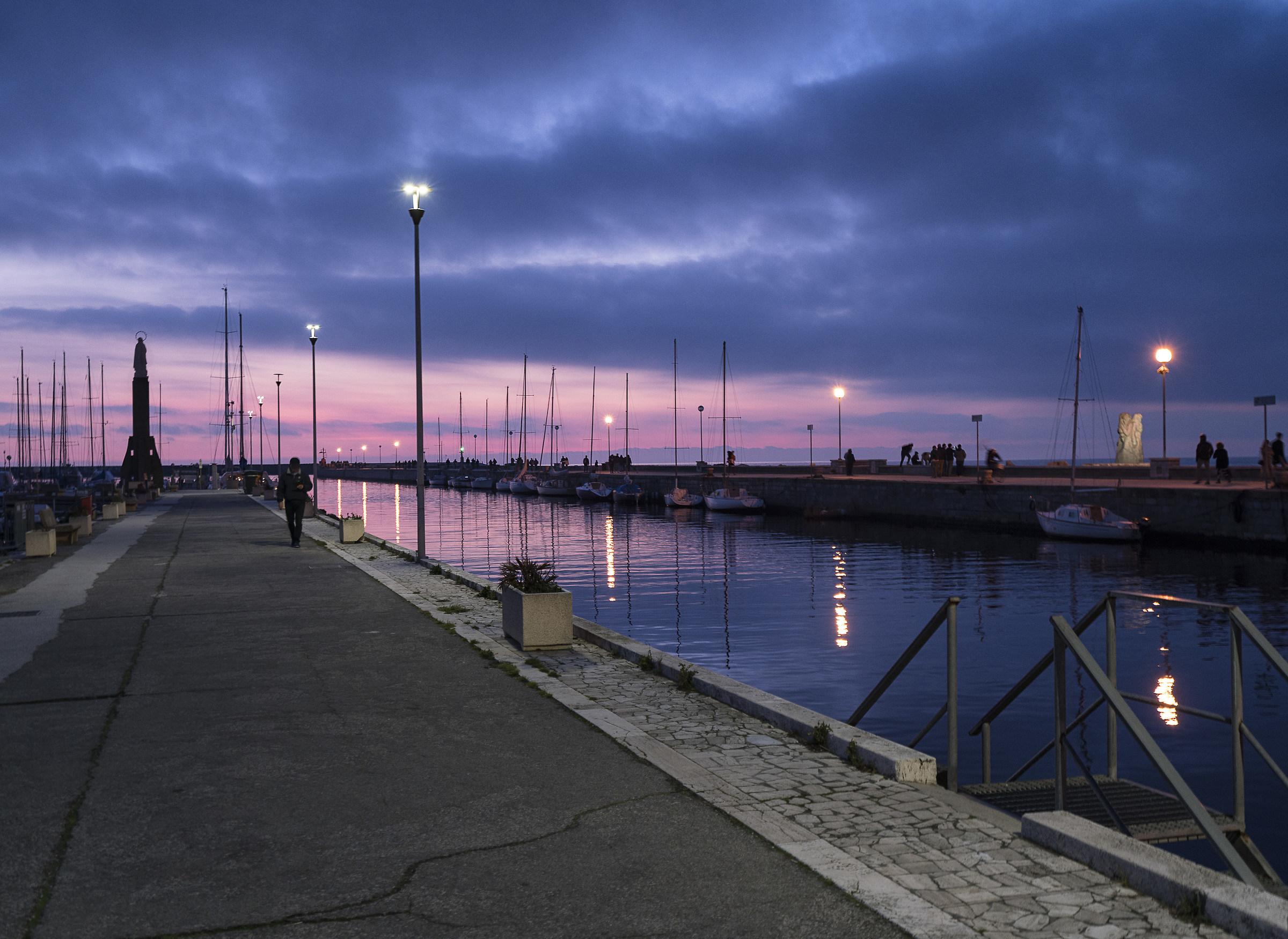 The evening walk...