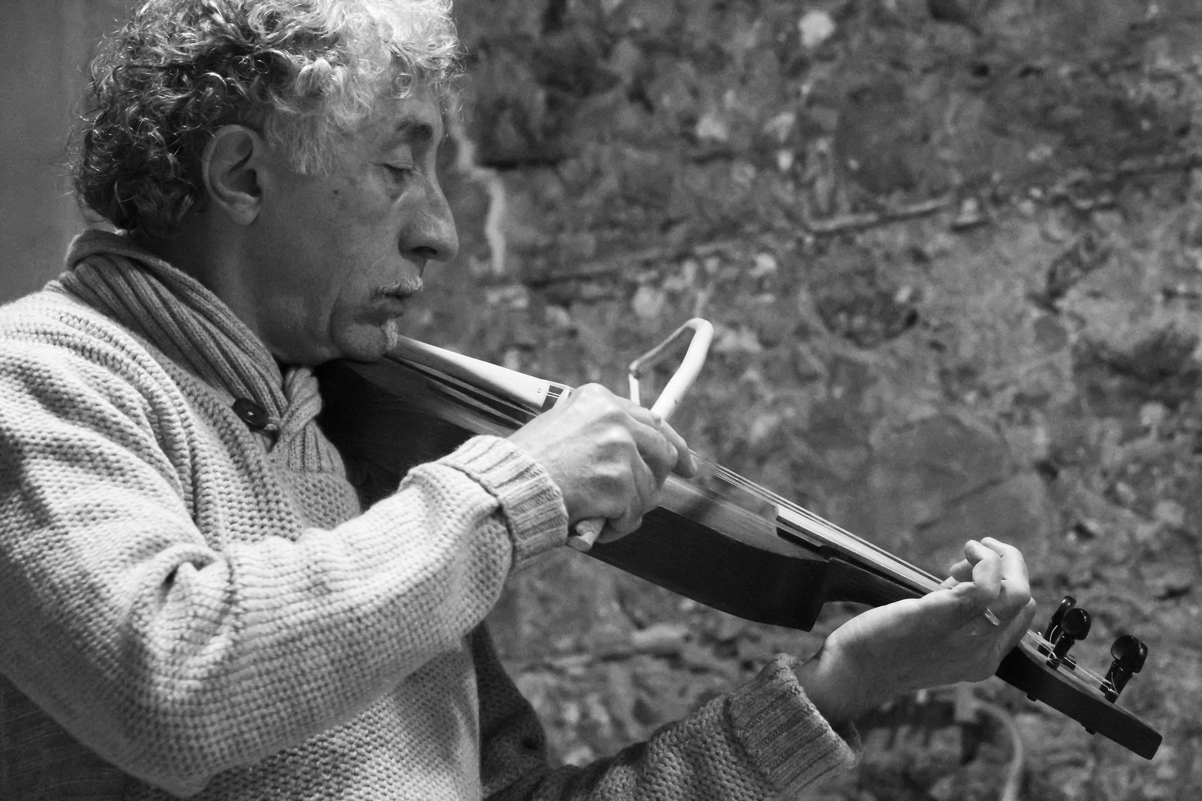 maestro suona antico predecessore del violino...