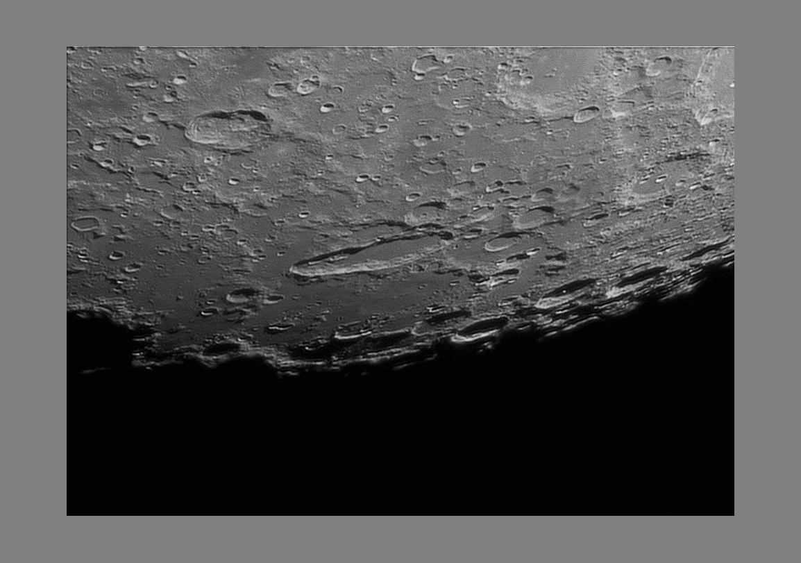 South-west lunar border, in the middle the Schiller crater...