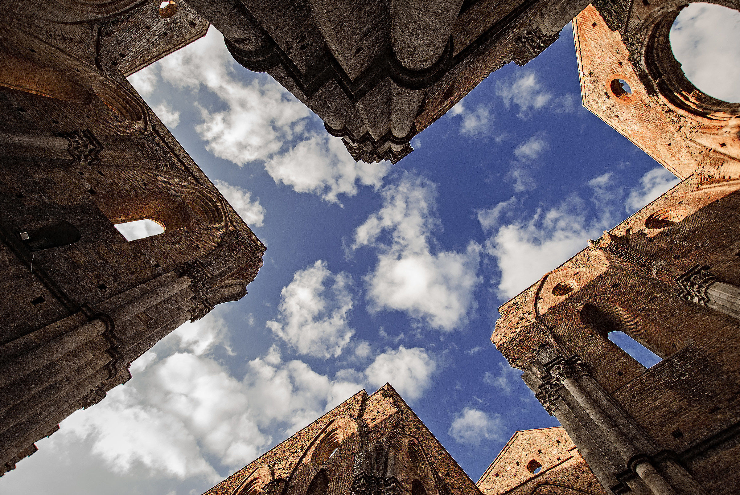 Looking at the Sky Above the Abbey of S.Galgano...