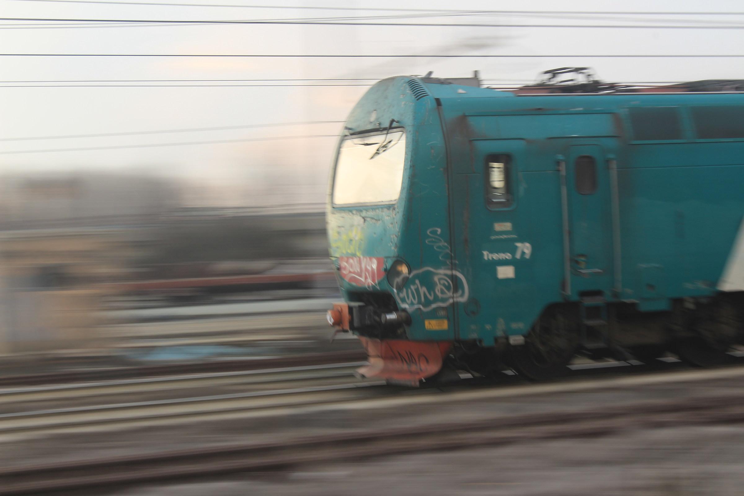 treno in corsa...