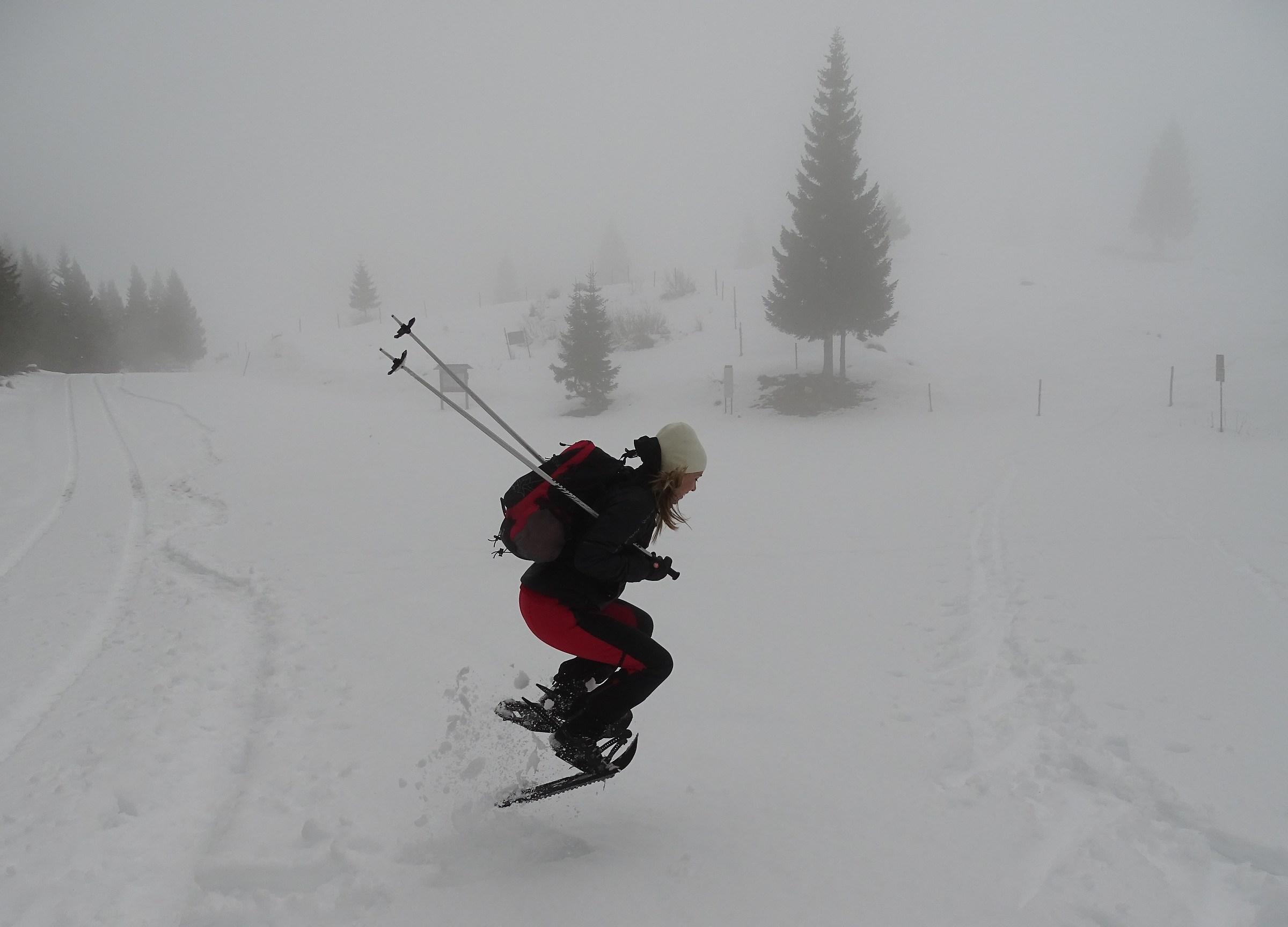 La neve diverte anche i grandi...