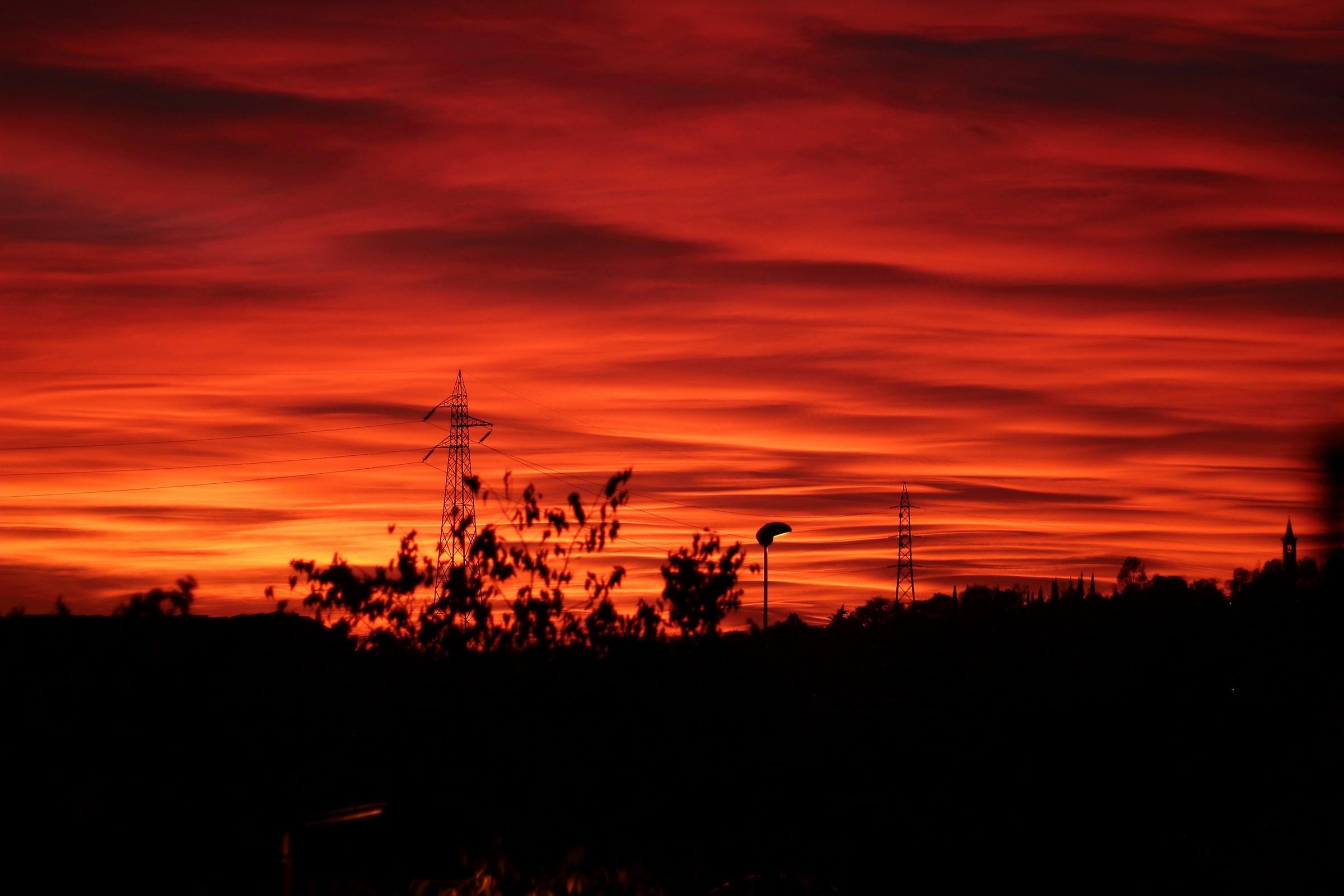 sunset of fire...