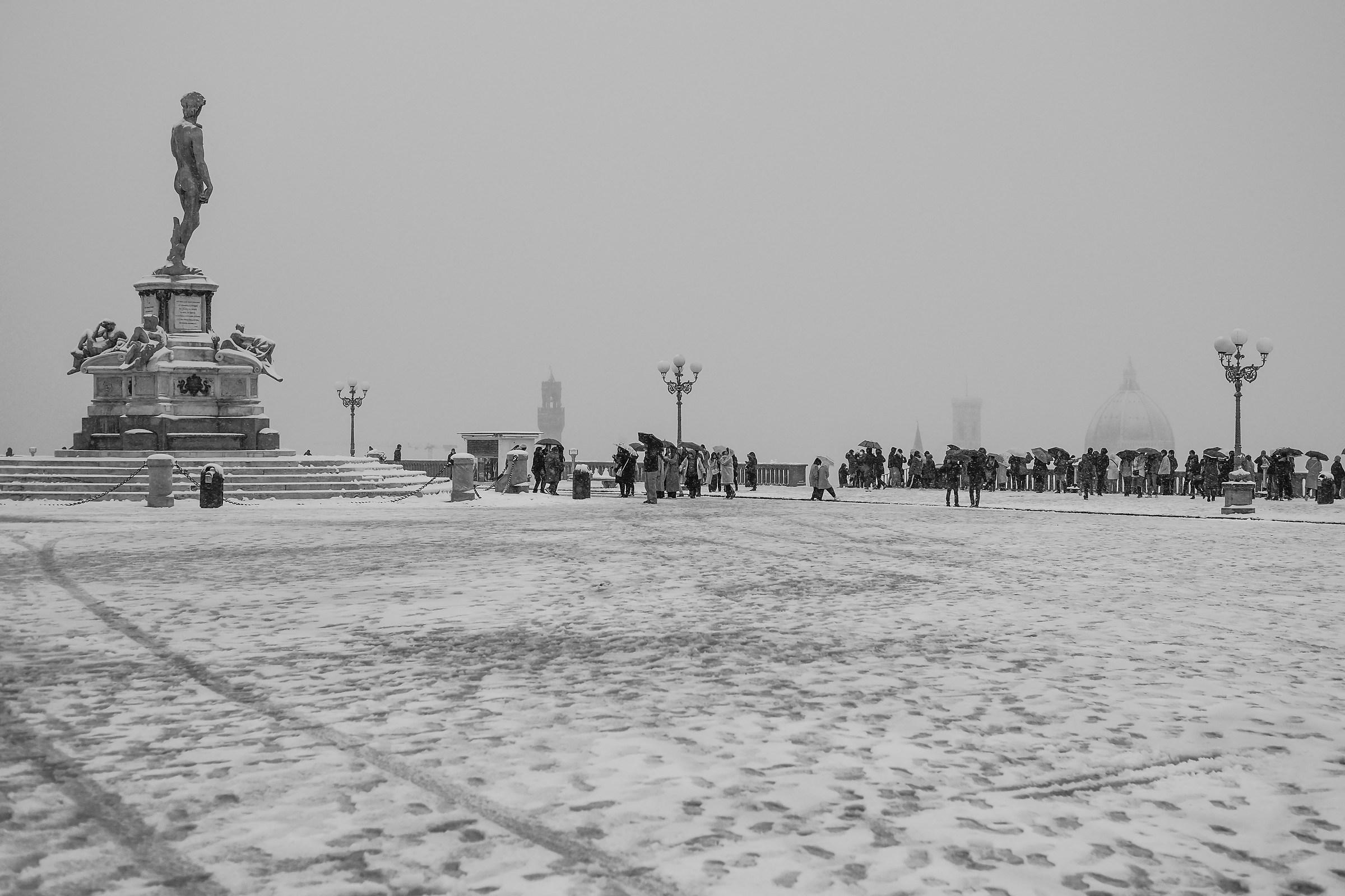 Un po' di neve a Firenze...