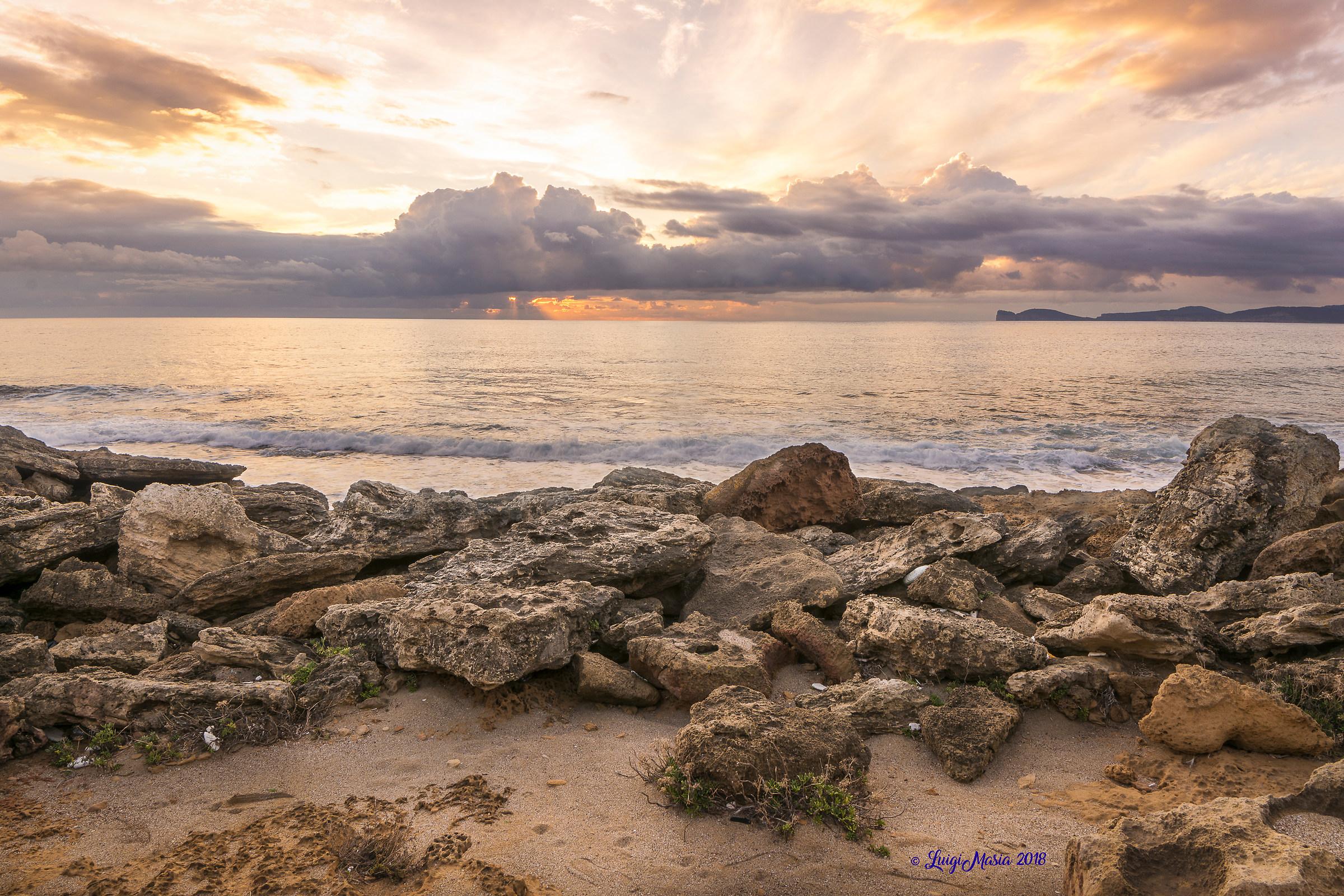 Sunset on the Gulf of Alghero...