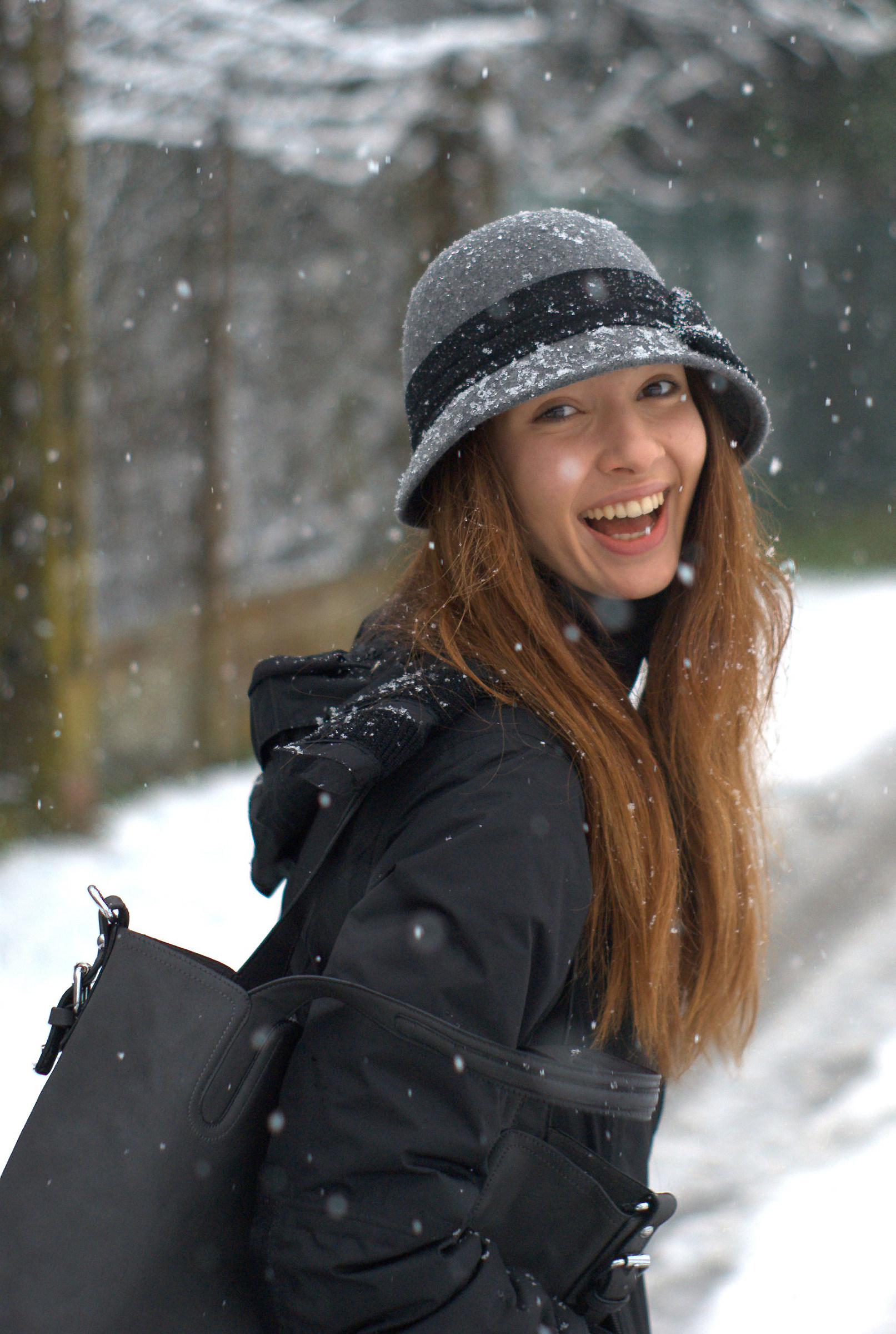 smile in the snow...