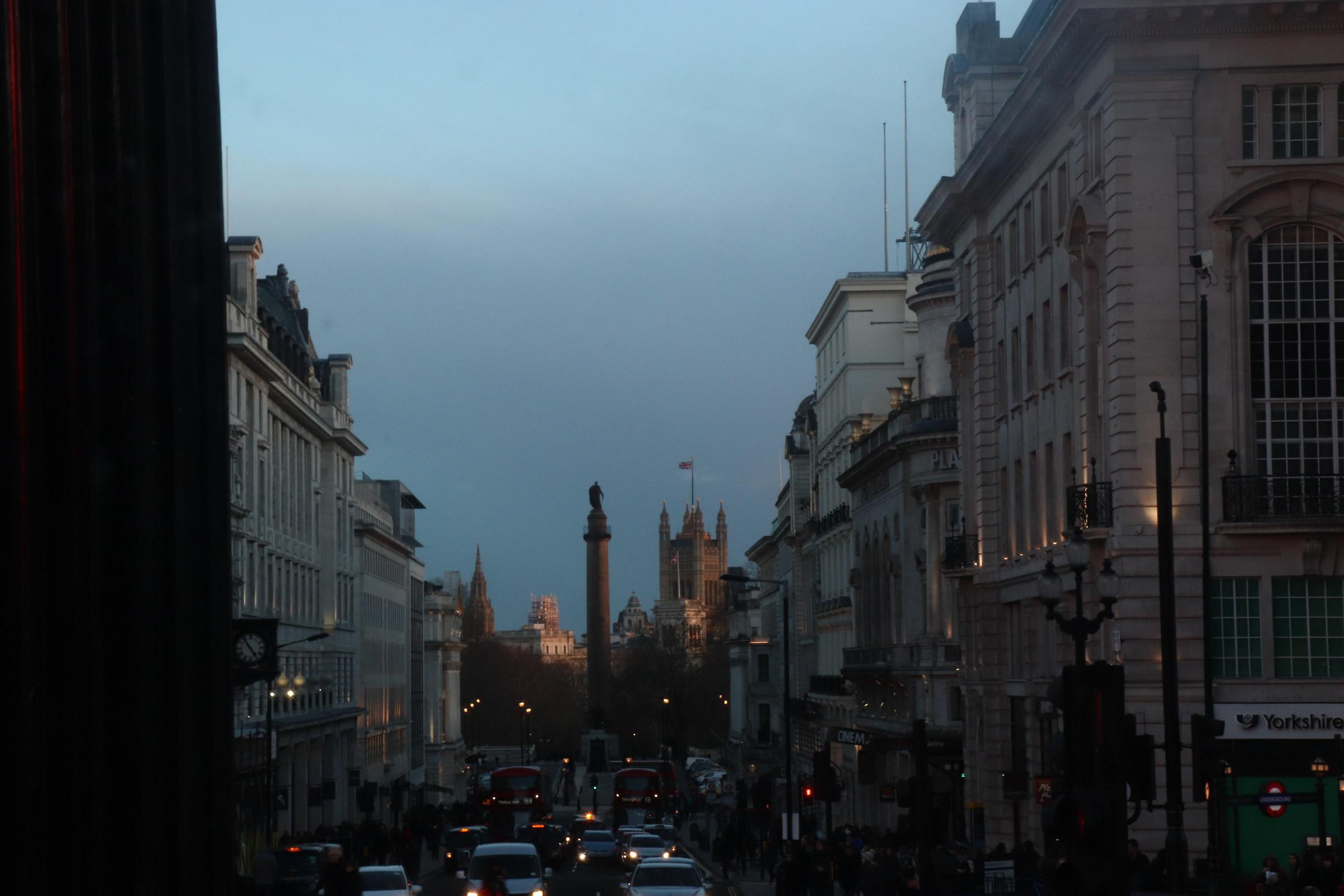 Sunset in London...