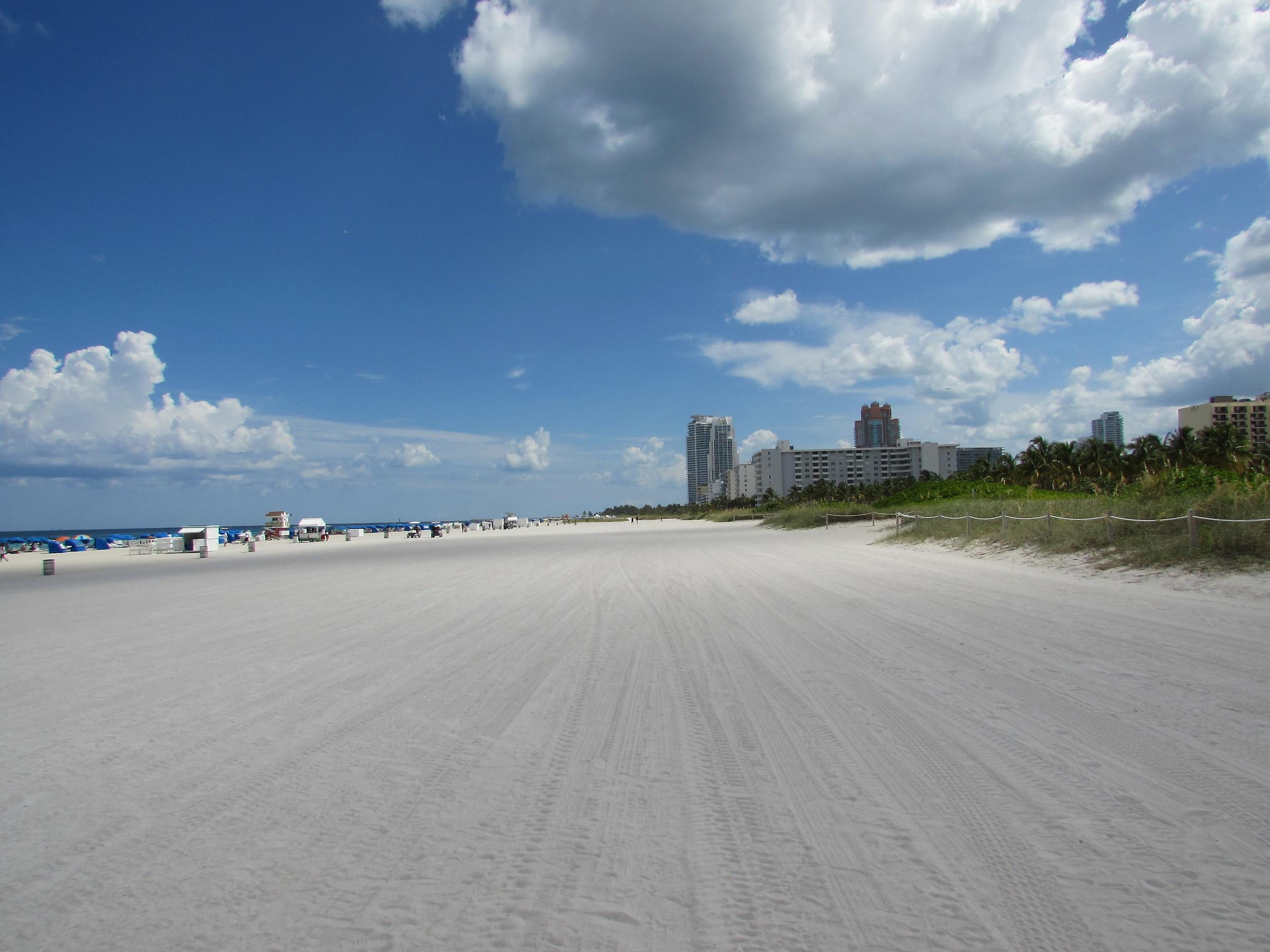 White sand...