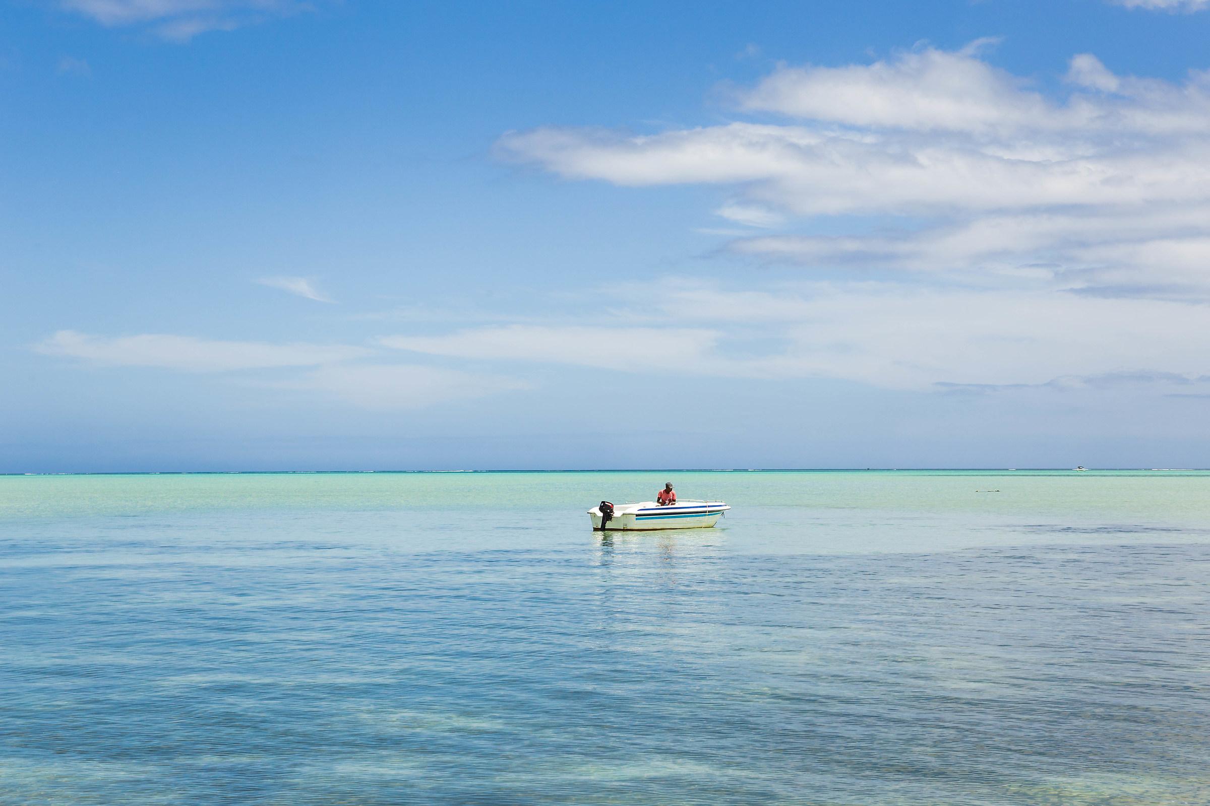 fisherman in the lagoon...