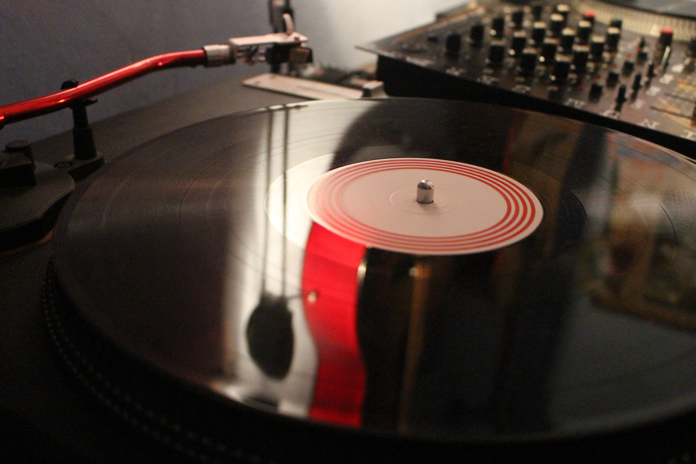 Turntables and guitar...