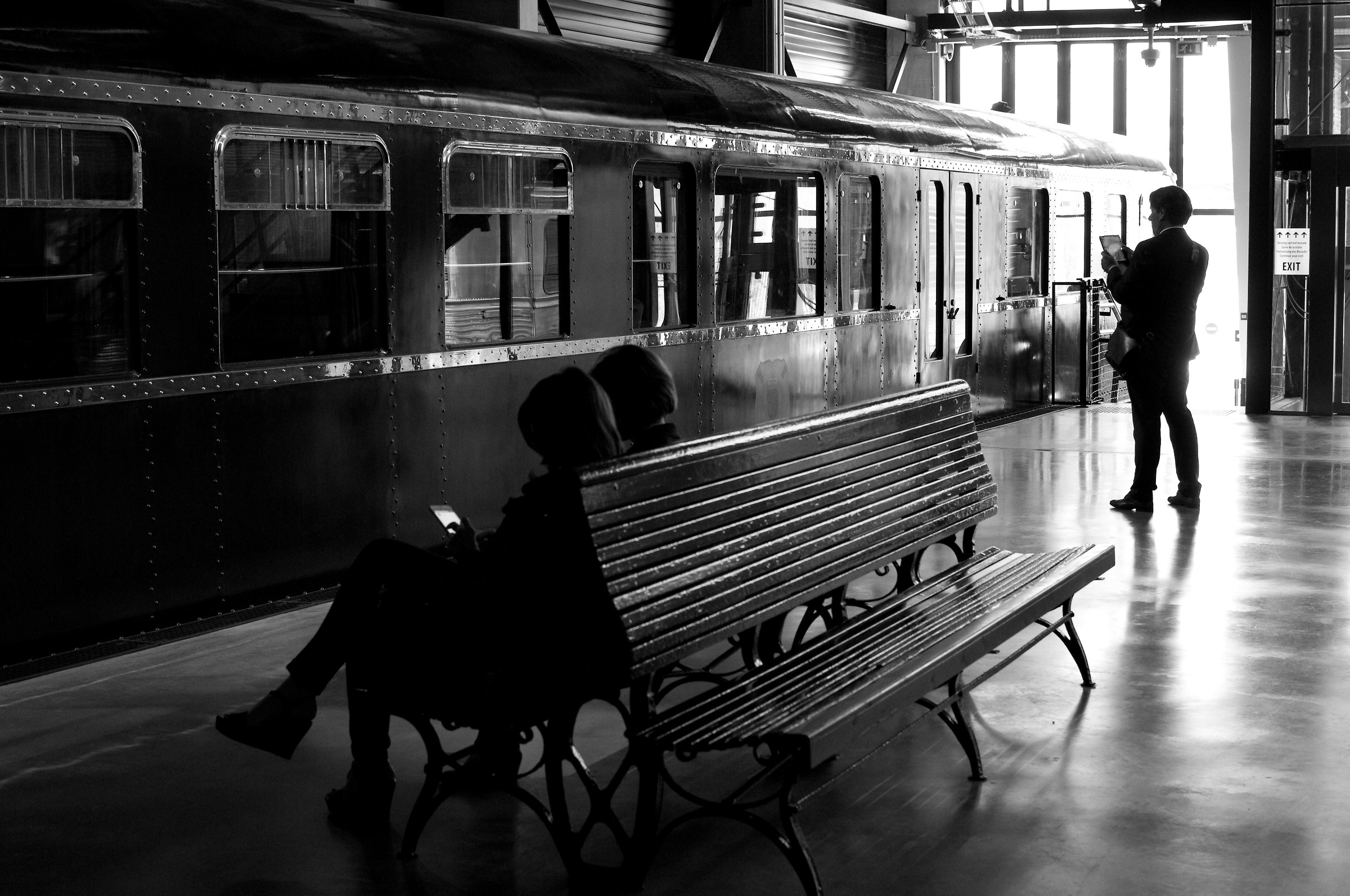 At the station...