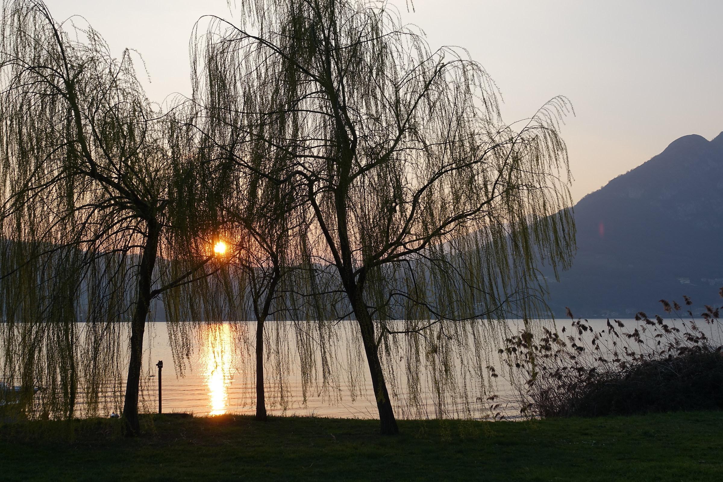Lago di Garlate, tramonto nell'equinozio di primavera...