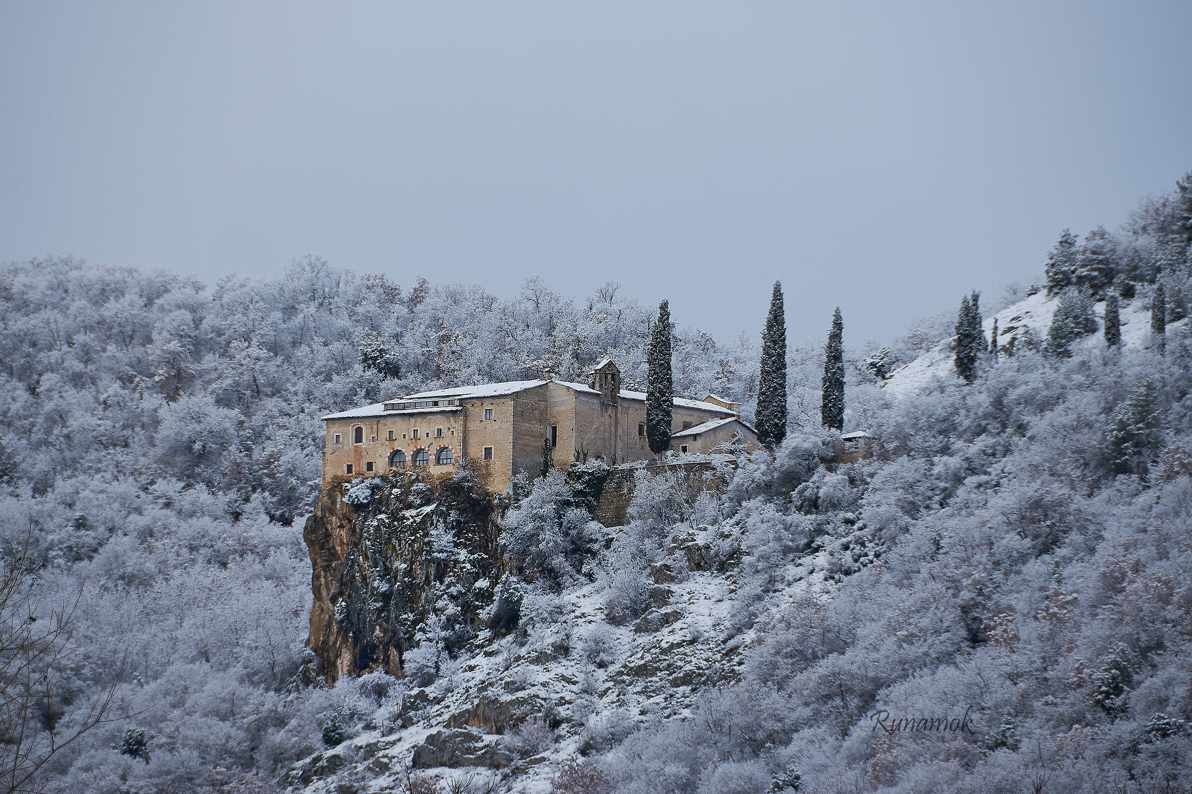 Convent of the snow-covered Sant'Angelo...
